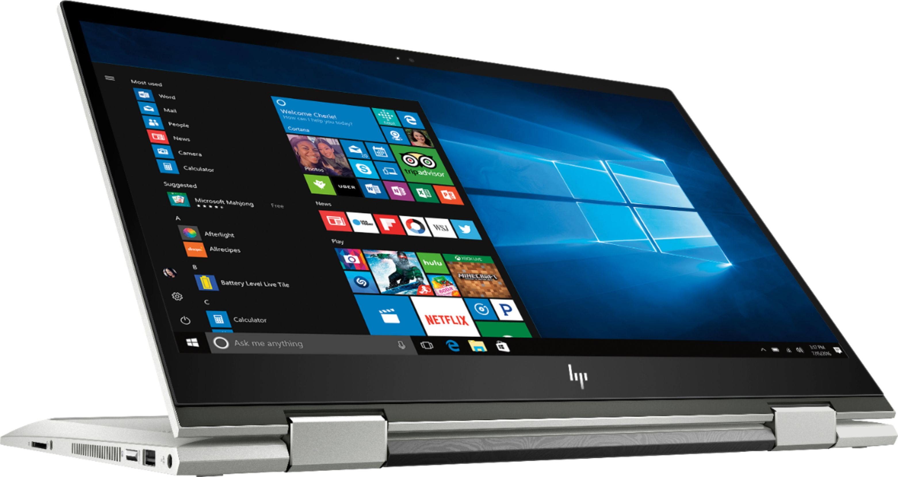 """Alt View Zoom 1. Geek Squad Certified Refurbished ENVY x360 2-in-1 15.6"""" Touch-Screen Laptop - Intel Core i7 - 12GB Memory - 256GB SSD - HP Finish In Natural Silver."""