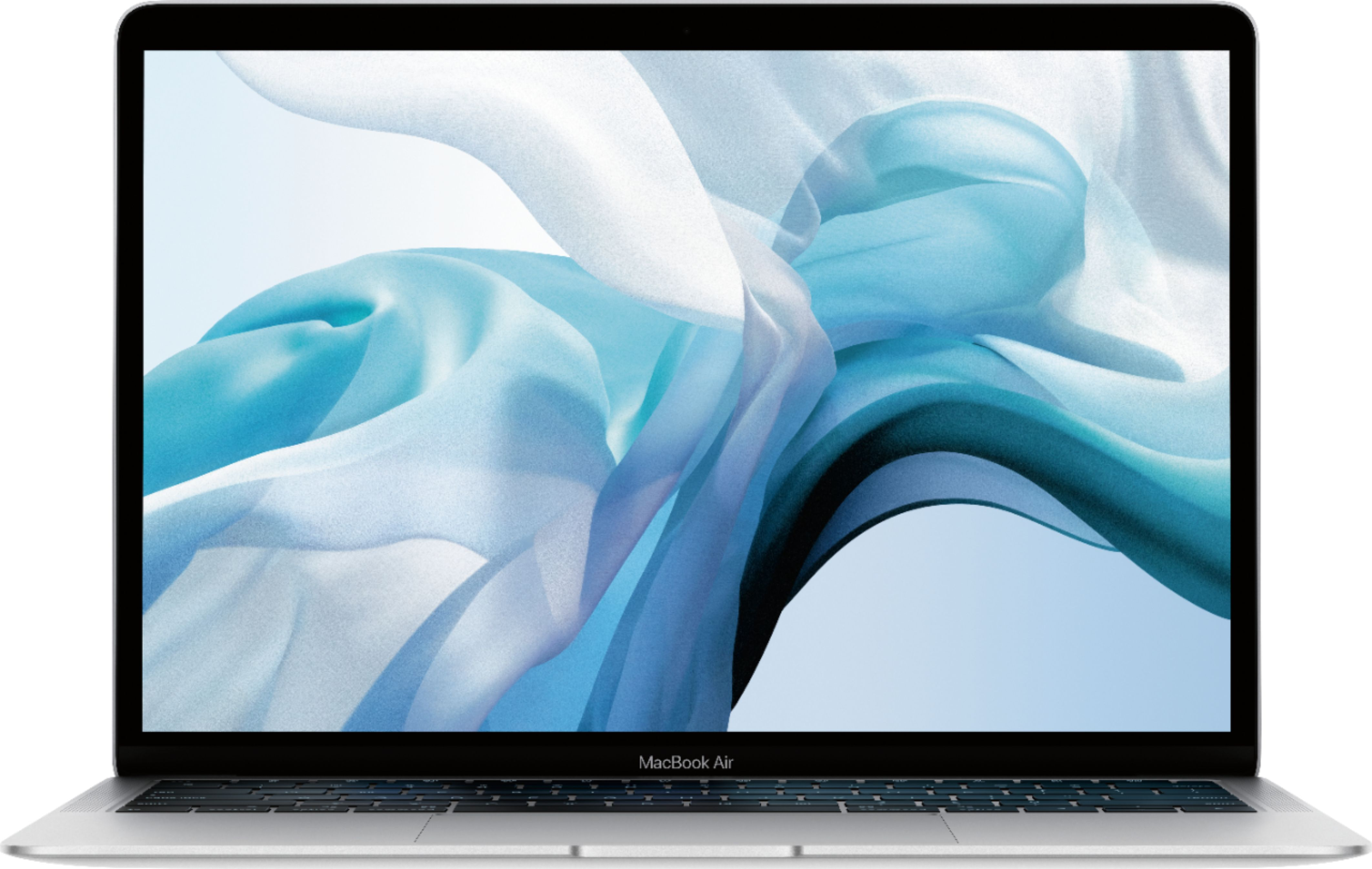 """Front Zoom. Apple - MacBook Air 13.3"""" Laptop with Touch ID - Intel Core i5 - 8GB Memory - 256GB Solid State Drive - Silver."""