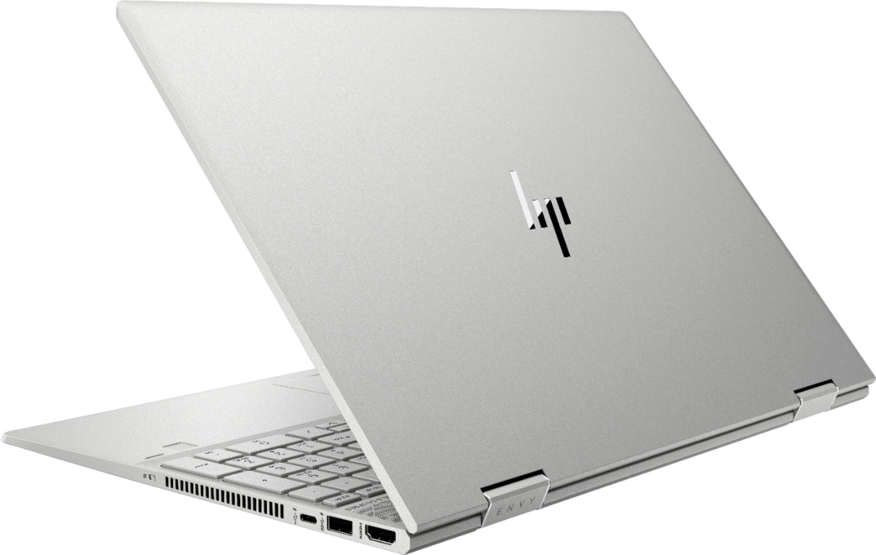 """Alt View Zoom 1. HP - ENVY x360 2-in-1 15.6"""" Touch-Screen Laptop - Intel Core i5 - 8GB Memory - 256GB Solid State Drive - Natural Silver, Sandblasted Anodized Finish."""