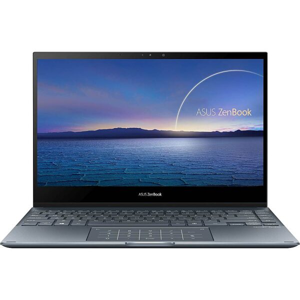 """ASUS - ZenBook Flip 2-in-1 13.3"""" Touch-Screen Laptop - Intel Core i5 - 8GB Memory - 512GB Solid State Drive - Pine Gray"""