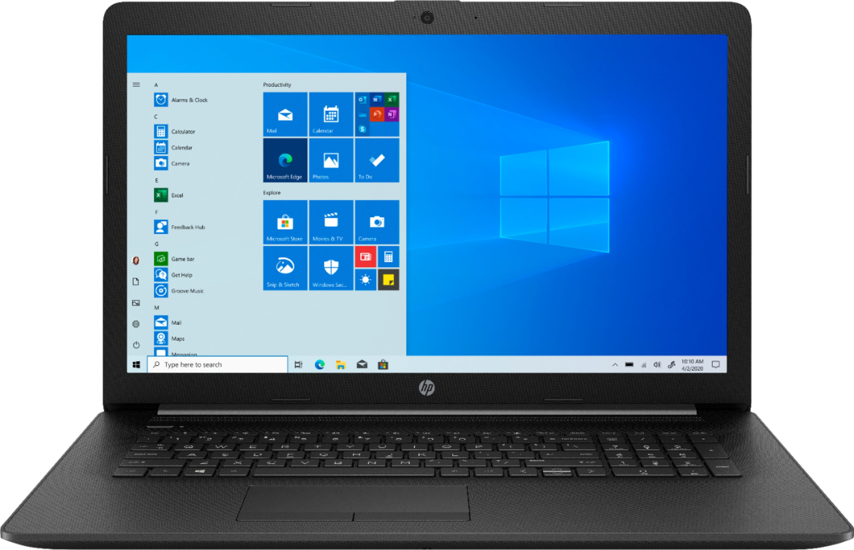 """Front Zoom. HP - 17.3"""" Laptop - Intel Core i5 - 8GB Memory - 256GB SSD."""