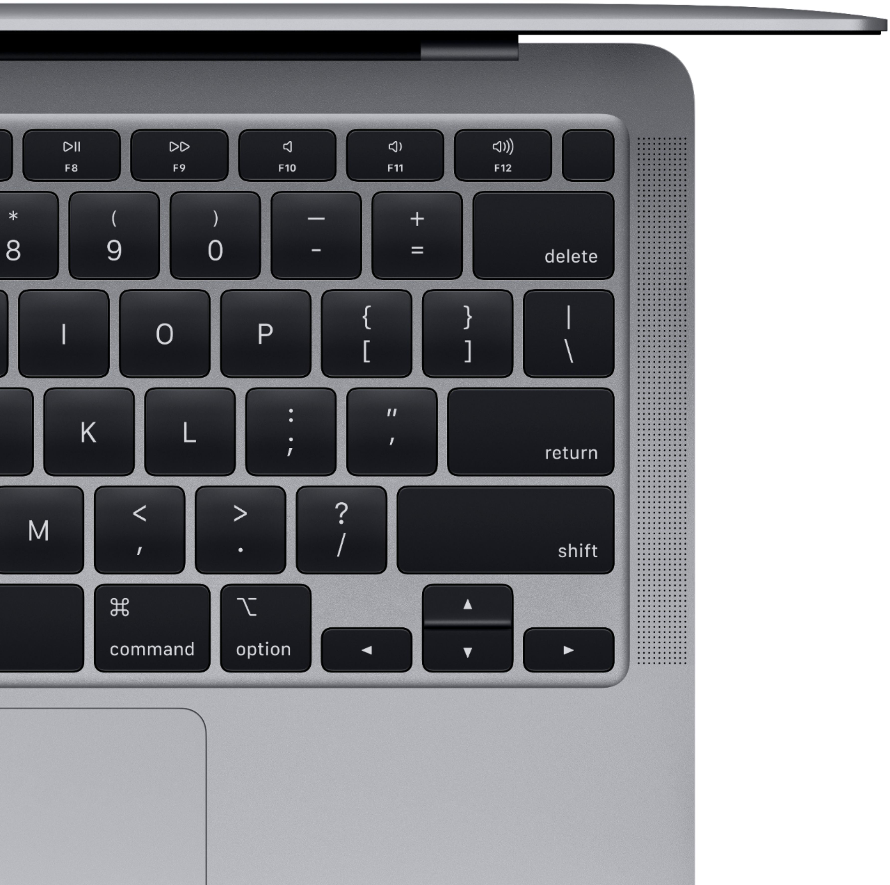 """Alt View Zoom 12. Apple - MacBook Air 13.3"""" Laptop with Touch ID - Intel Core i3 - 8GB Memory - 256GB Solid State Drive - Space Gray."""