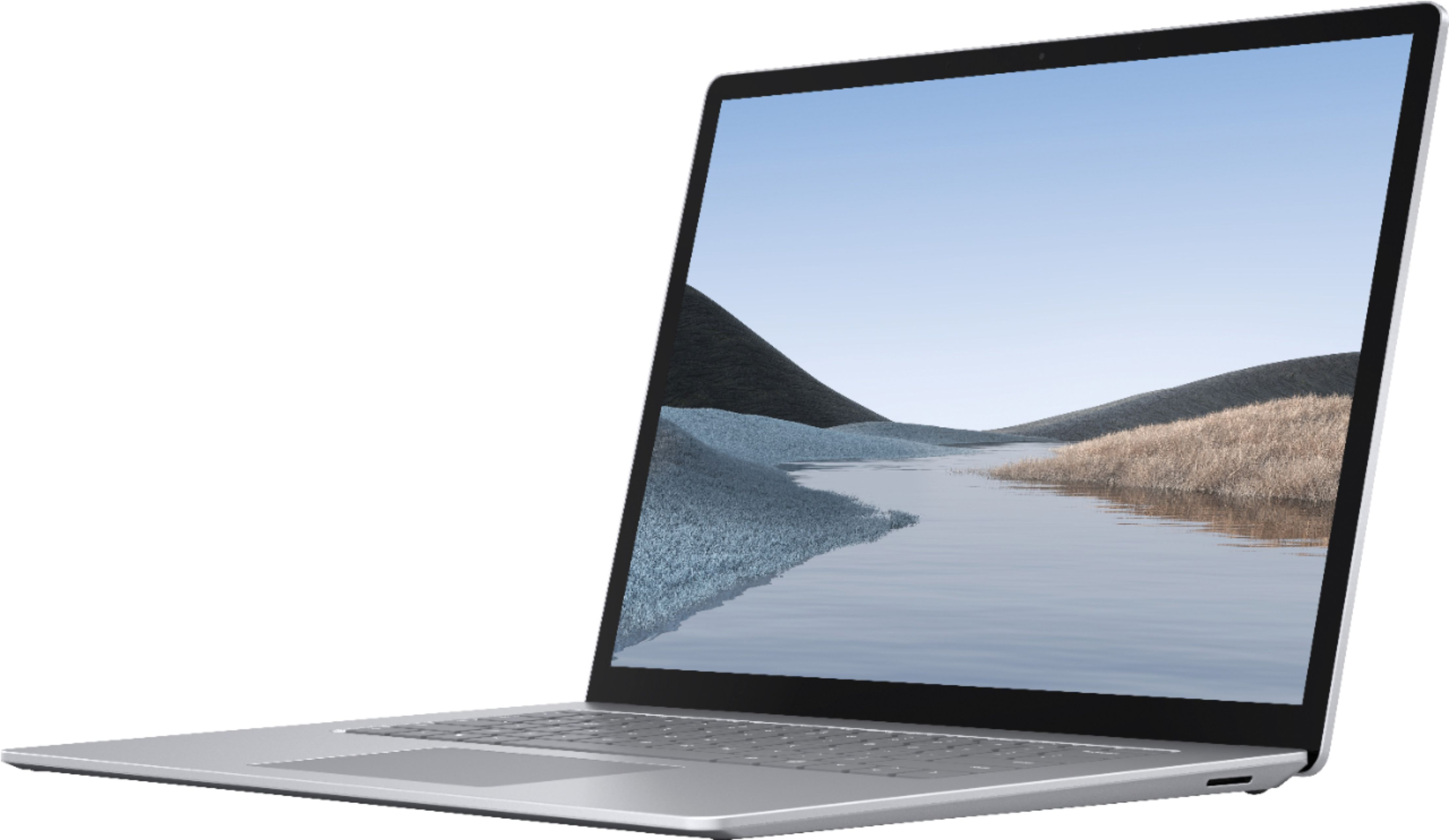 """Front Zoom. Microsoft - Surface Laptop 3 - 15"""" Touch-Screen - AMD Ryzen™ 5 Surface Edition - 16GB Memory - 256GB SSD (Latest Model) - Platinum."""
