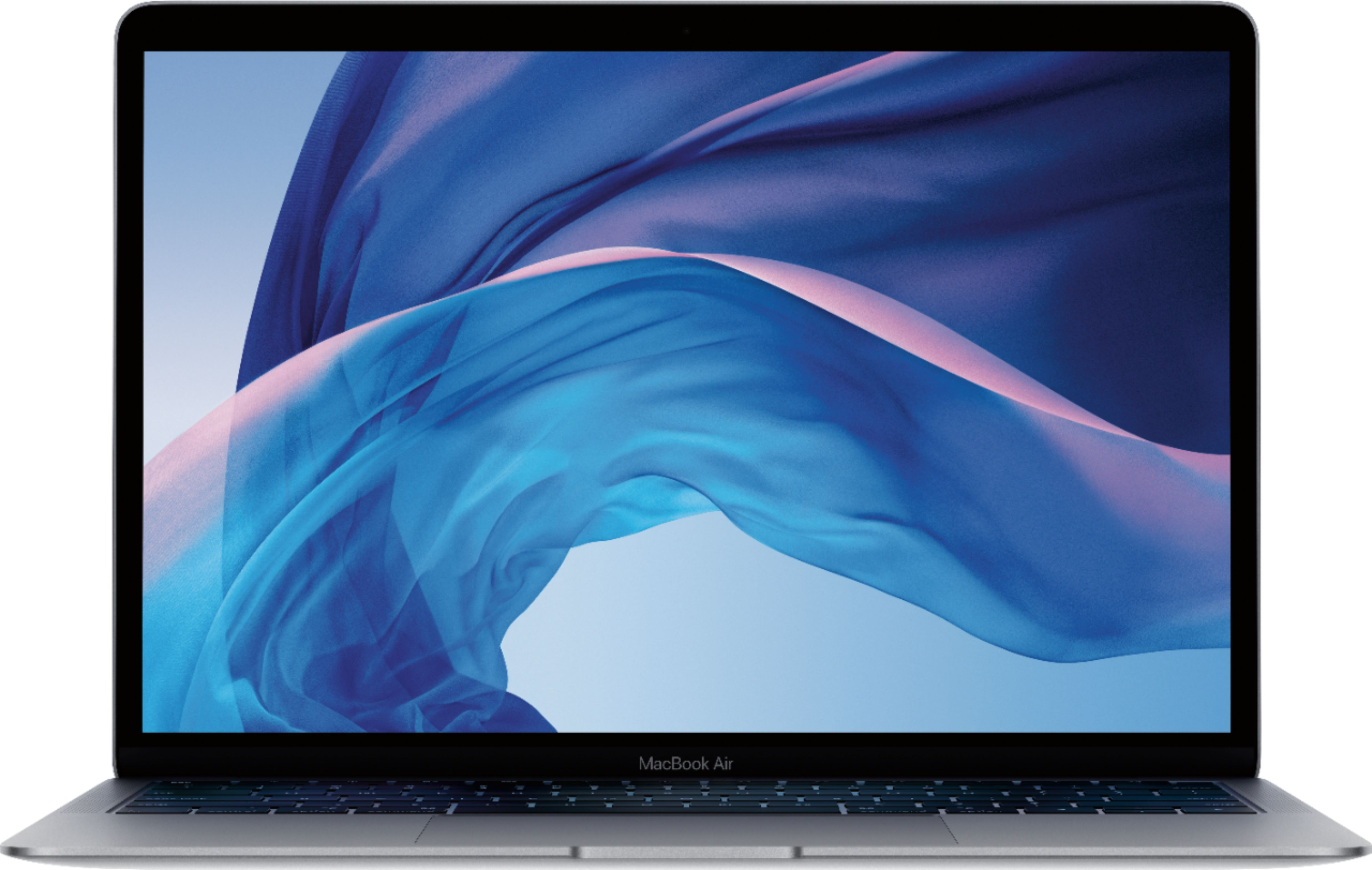 """Front Zoom. Apple - MacBook Air 13.3"""" Laptop with Touch ID - Intel Core i5 - 8GB Memory - 128GB Solid State Drive - Space Gray."""