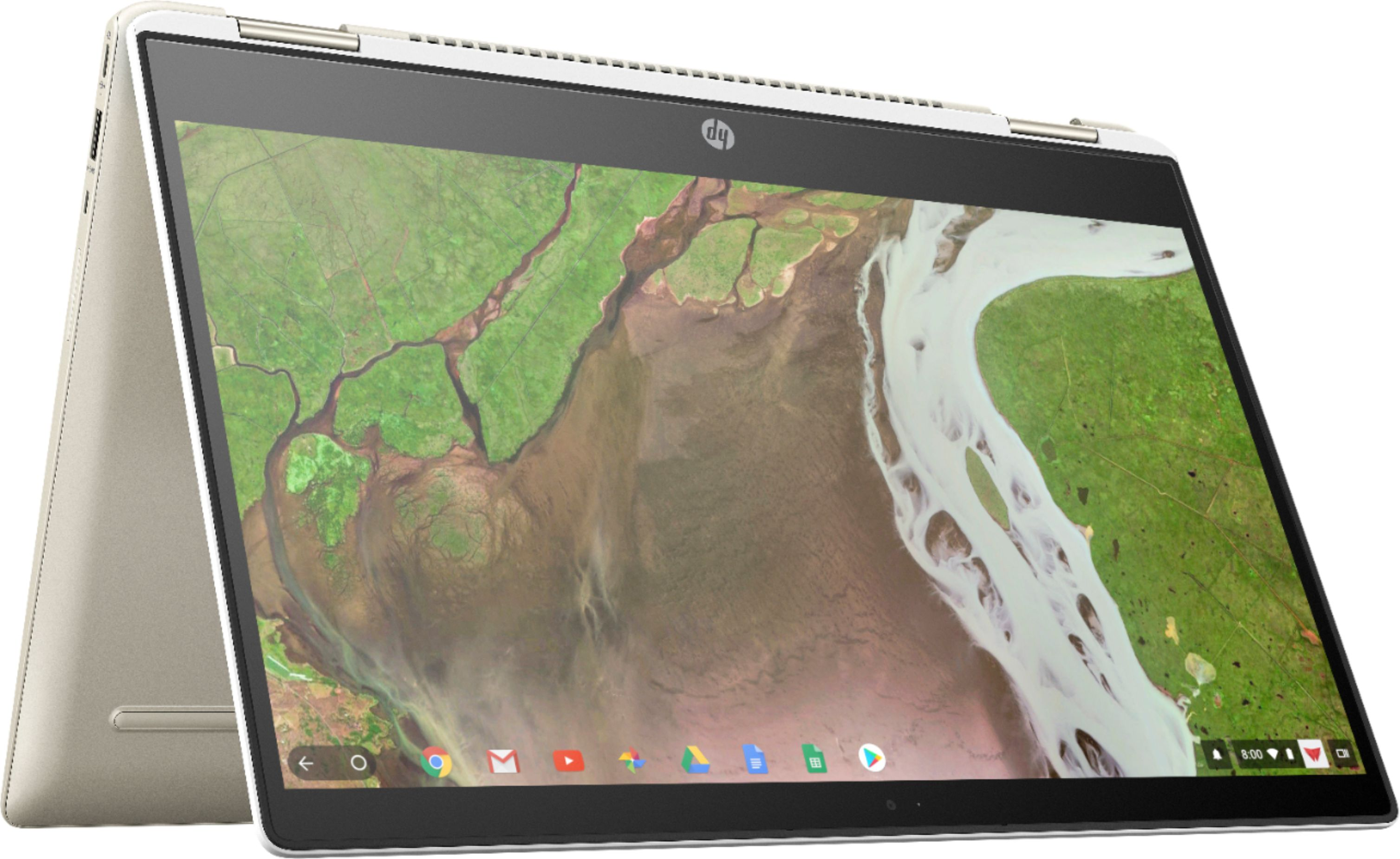 """Front Zoom. HP - 2-in-1 14"""" Touch-Screen Chromebook - Intel Core i3 - 8GB Memory - 64GB eMMC Flash Memory - White."""