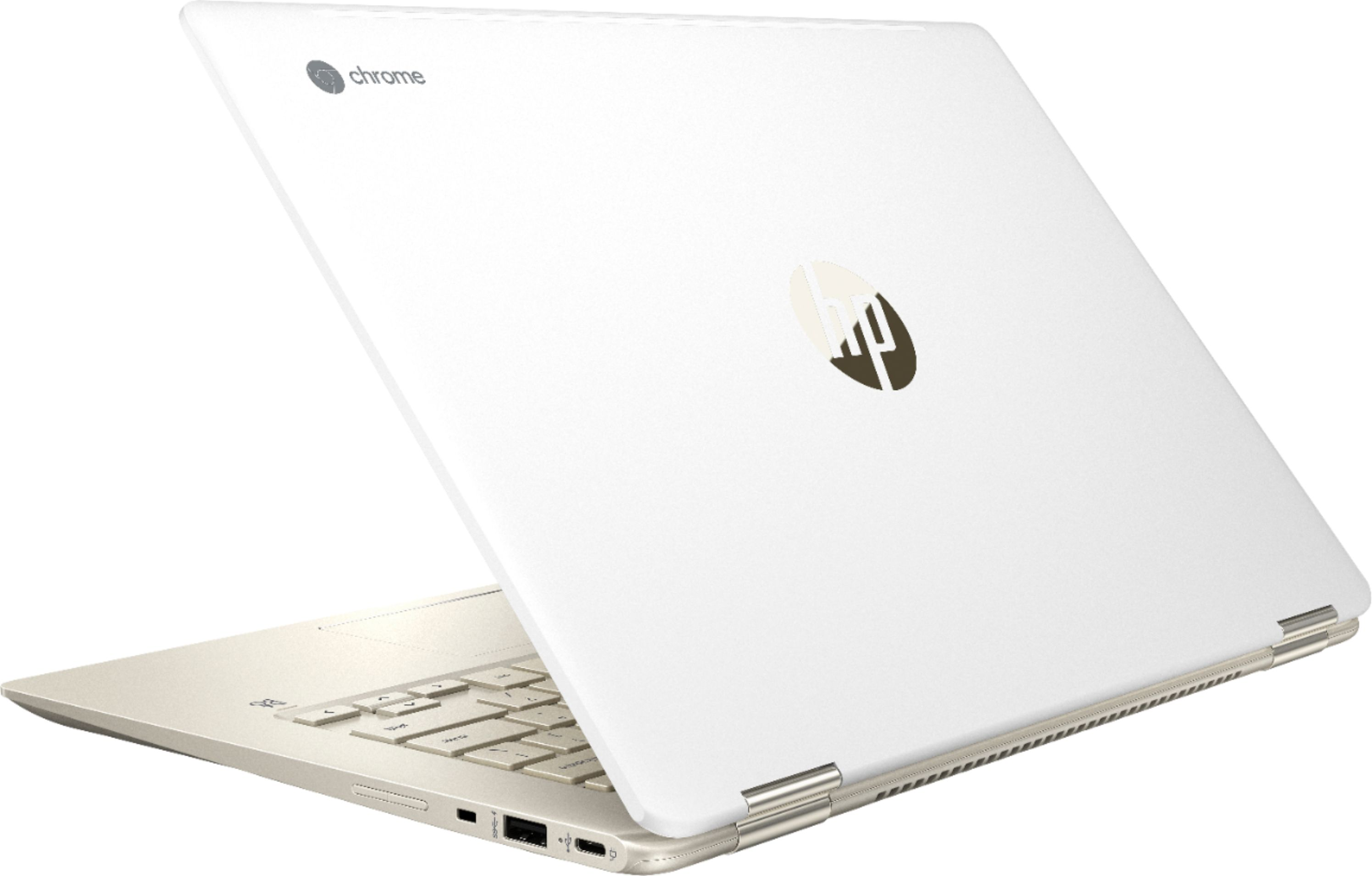 """Alt View Zoom 1. HP - 2-in-1 14"""" Touch-Screen Chromebook - Intel Core i3 - 8GB Memory - 64GB eMMC Flash Memory - White."""