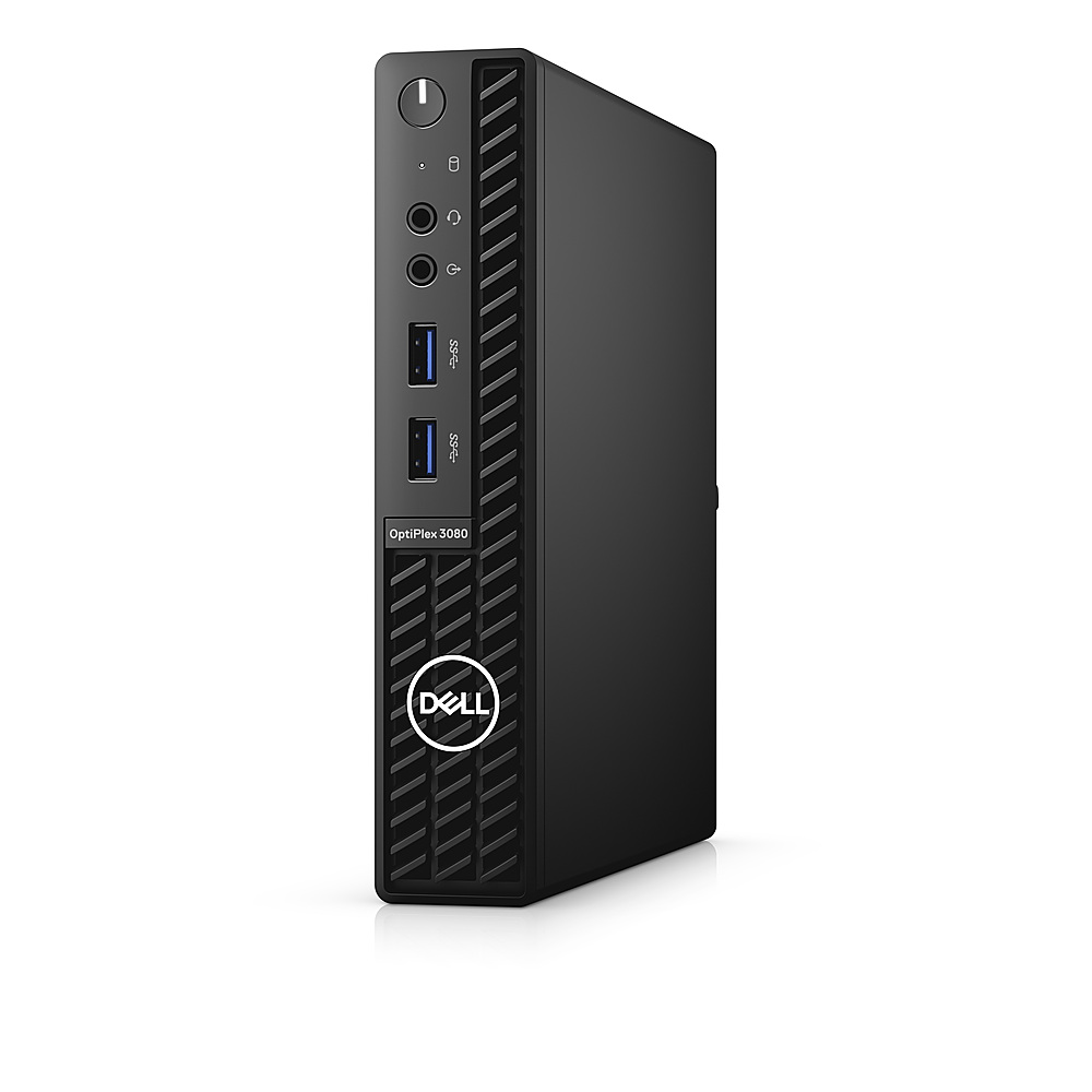 Left Zoom. Dell - OptiPlex 3080 Micro PC - i5 -10500T - 8GB - 256GB SSD - Keyboard and Mouse.