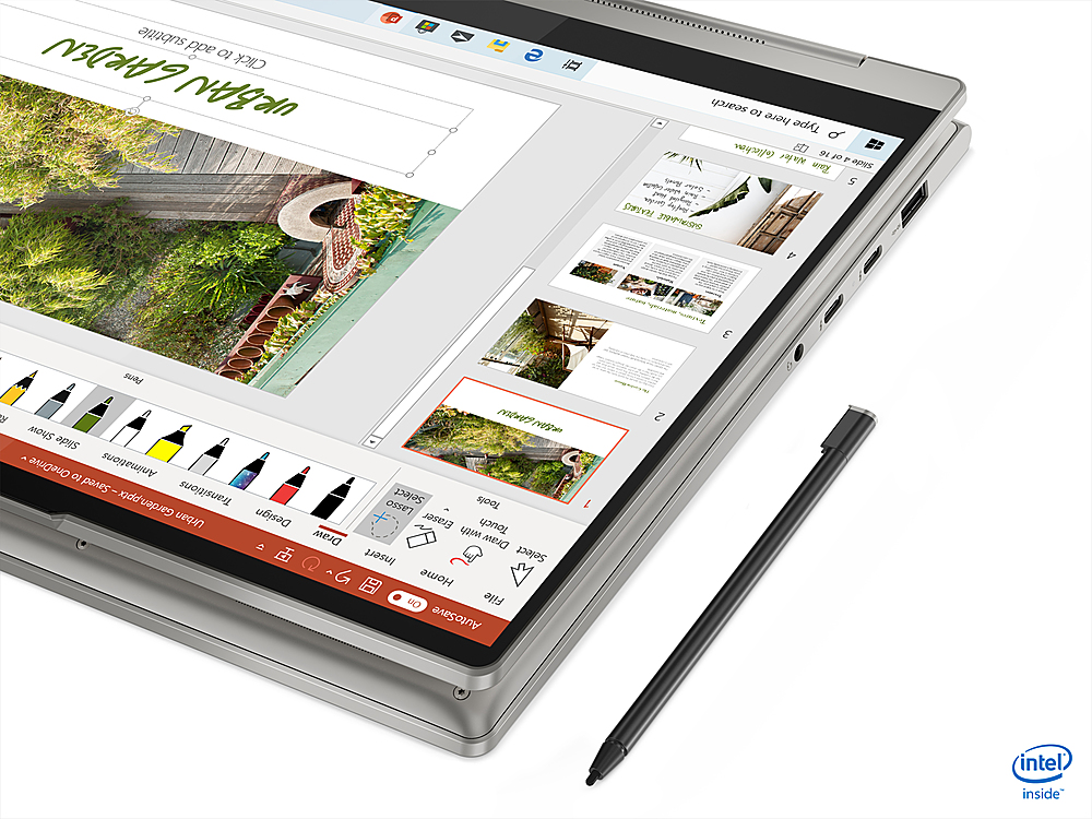 """Alt View Zoom 1. Lenovo - Yoga 9i 14 2-in-1 14"""" Touch-Screen Laptop - Intel Core i7 - 16GB Memory - 512GB SSD - Mica."""