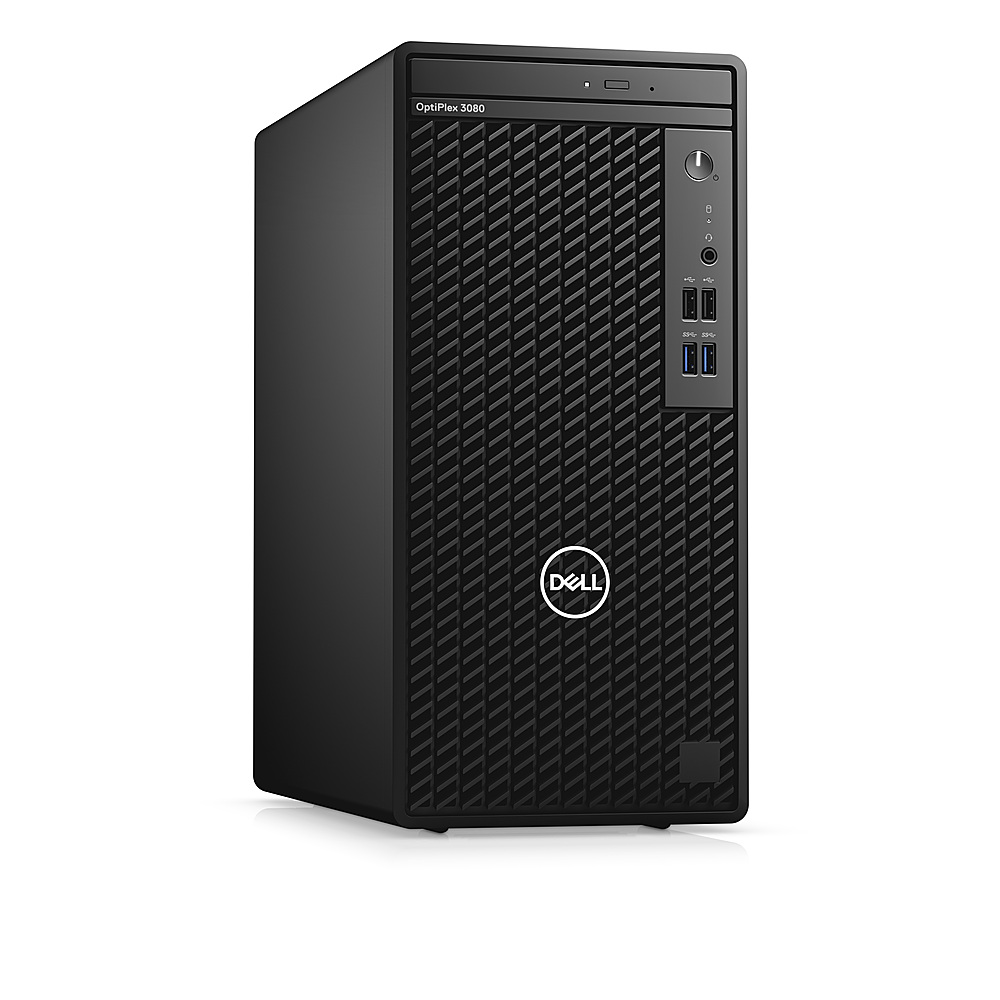 Angle Zoom. Dell - OptiPlex 3080 Desktop - i5 - 8GB - 1TB HDD - Keyboard and Mouse.