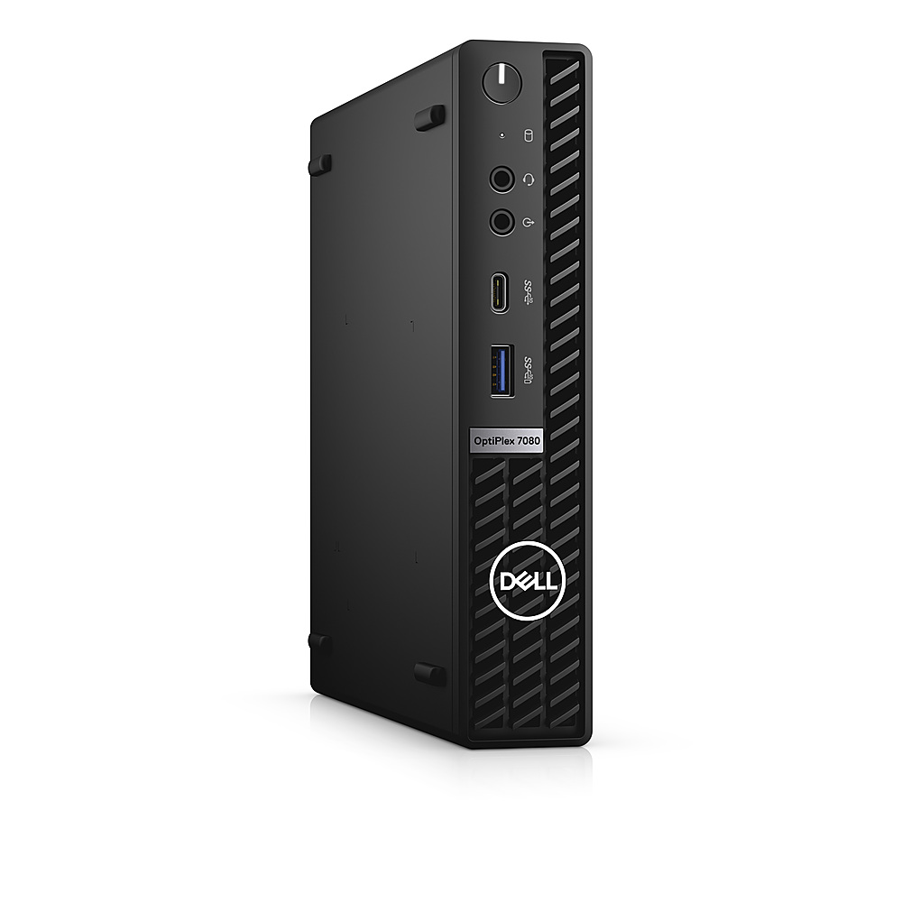 Angle Zoom. Dell - OptiPlex 7080 Micro PC - i5 -10500T - 8GB - 256GB SSD  - Keyboard and Mouse.