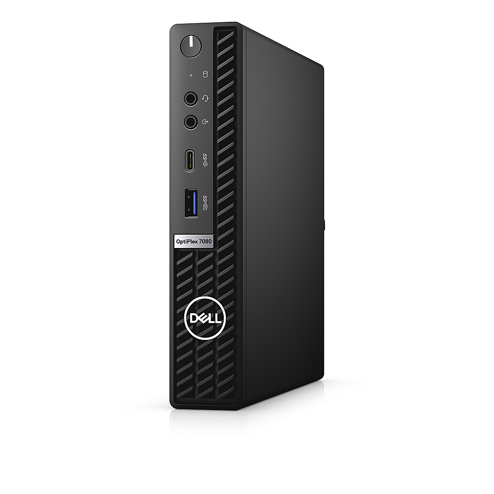 Left Zoom. Dell - OptiPlex 7080 Micro PC - i5 -10500T - 8GB - 256GB SSD  - Keyboard and Mouse.
