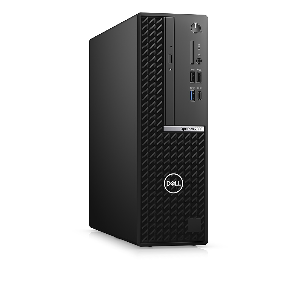 Angle Zoom. Dell - OptiPlex 7080 SFF PC - i7-10700 - 8GB - 256GB SSD - Keyboard and Mouse.