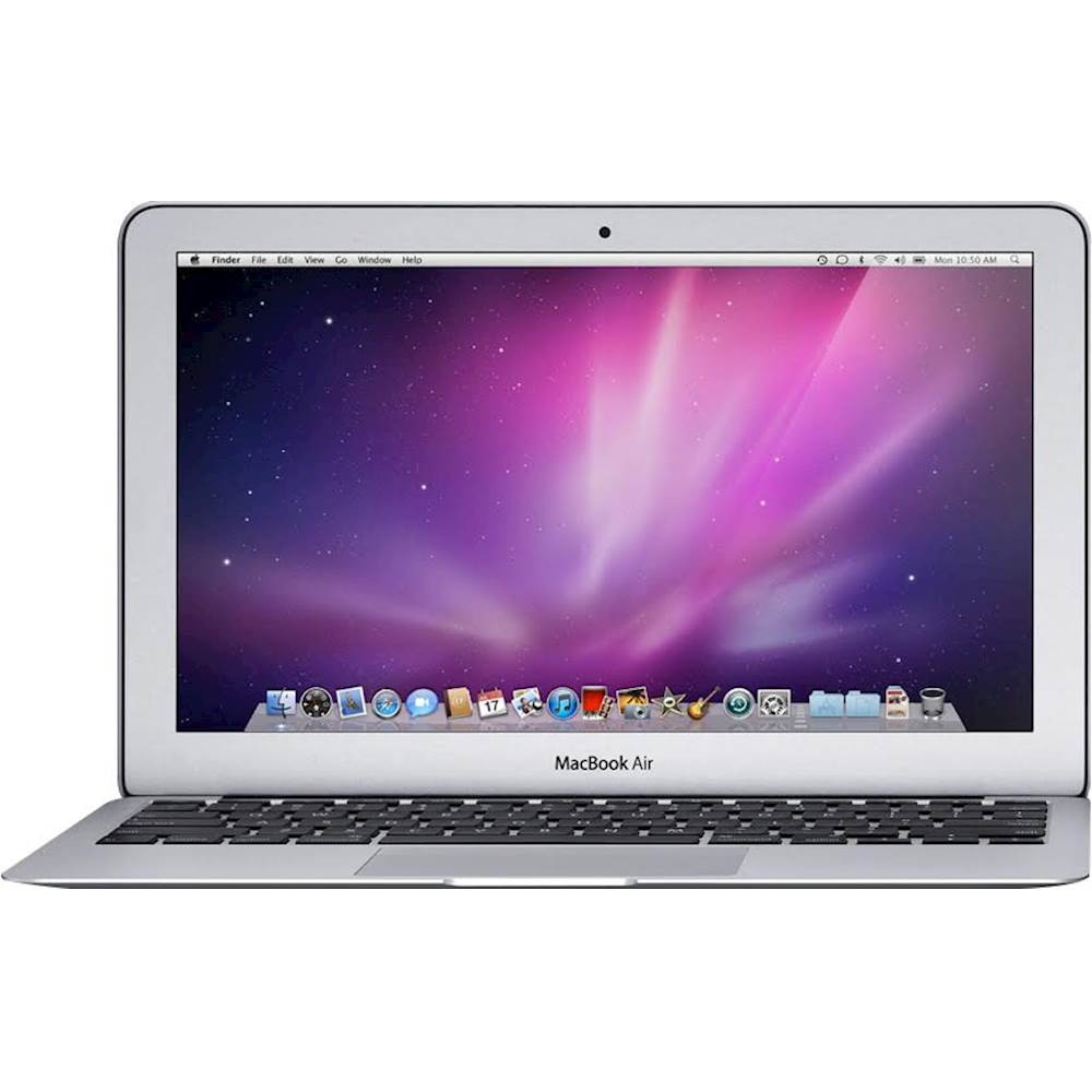 """Front Zoom. Apple - MacBook Air 11.6"""" Pre-Owned Laptop - Intel Core i5 - 2GB Memory - 64GB Solid State Drive - Silver."""