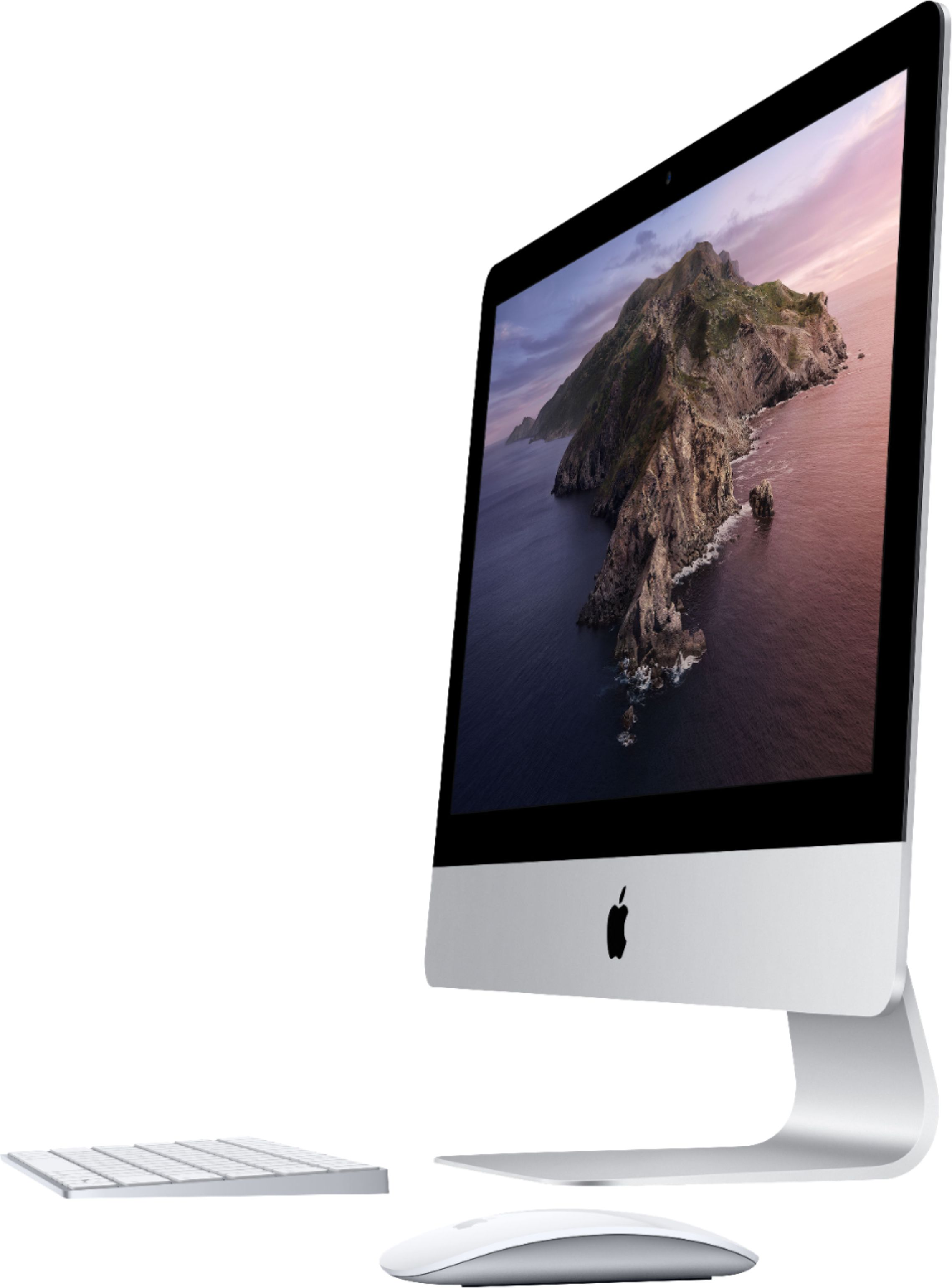"""Left Zoom. Apple - 21.5"""" iMac® with Retina 4K display - Intel Core i5 (3.0GHz) - 8GB Memory - 1TB Fusion Drive - Silver."""