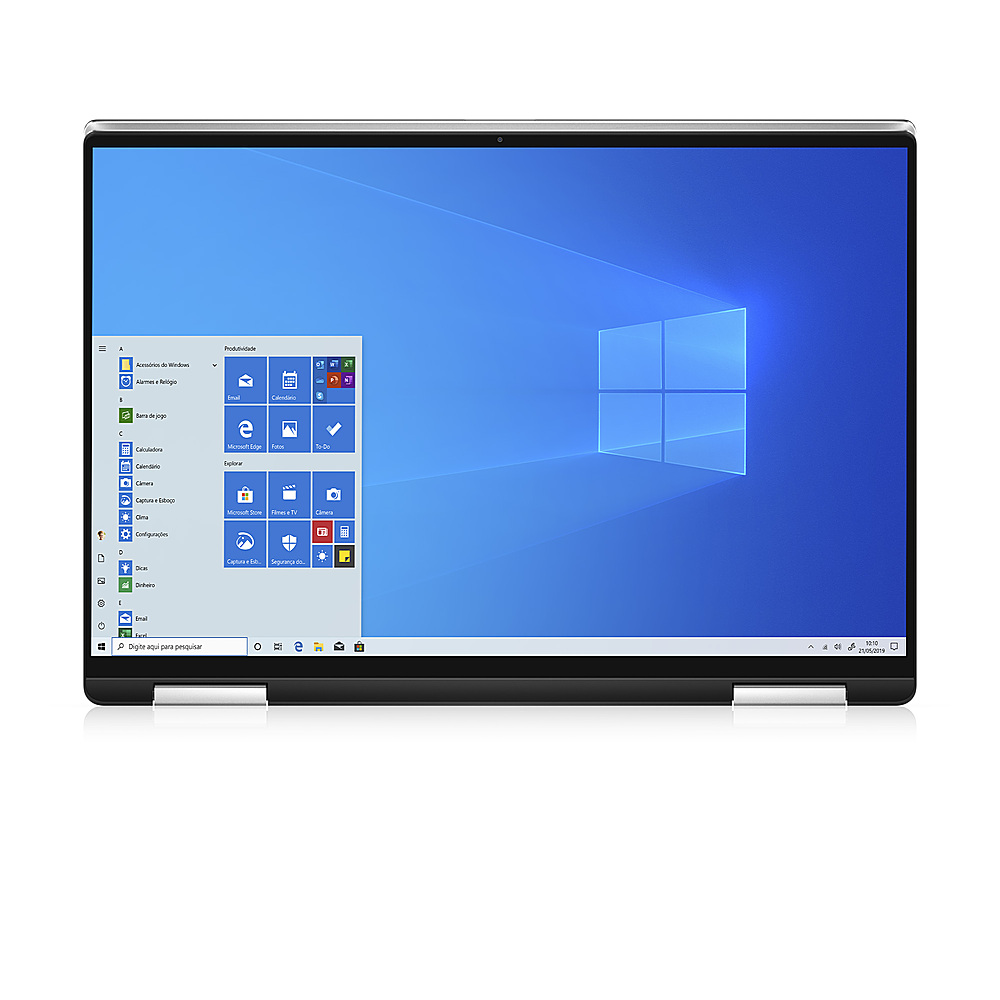 """Angle Zoom. Dell - XPS 13"""" 2-in-1 Touch FHD+ Laptop - Intel Evo Platform Core i7- 8GB RAM- 256GB SSD - Platinum Silver - Platinum Silver with Black Palmrest."""