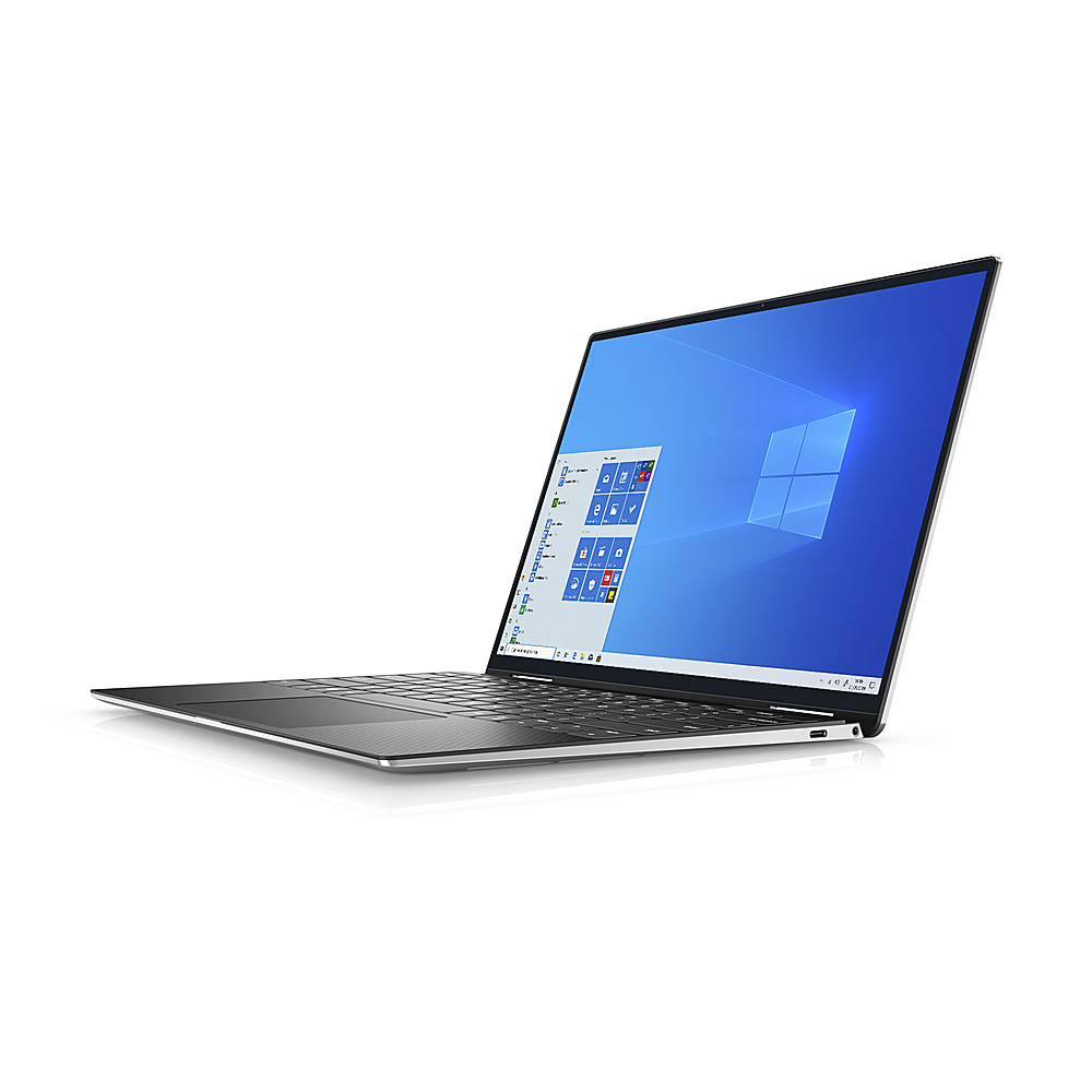"""Left Zoom. Dell - XPS 13"""" 2-in-1 Touch FHD+ Laptop - Intel Evo Platform Core i7- 8GB RAM- 256GB SSD - Platinum Silver - Platinum Silver with Black Palmrest."""
