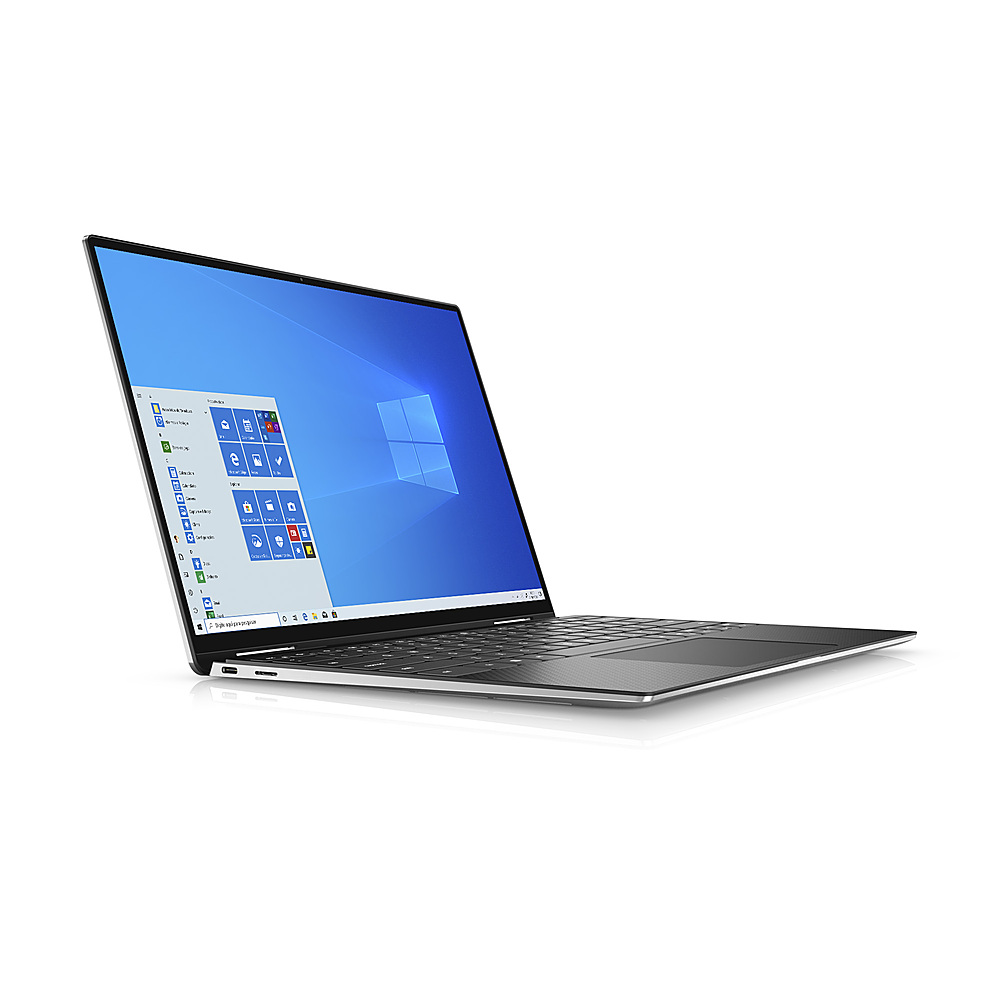 """Alt View Zoom 1. Dell - XPS 13"""" 2-in-1 Touch FHD+ Laptop - Intel Evo Platform Core i7- 8GB RAM- 256GB SSD - Platinum Silver - Platinum Silver with Black Palmrest."""
