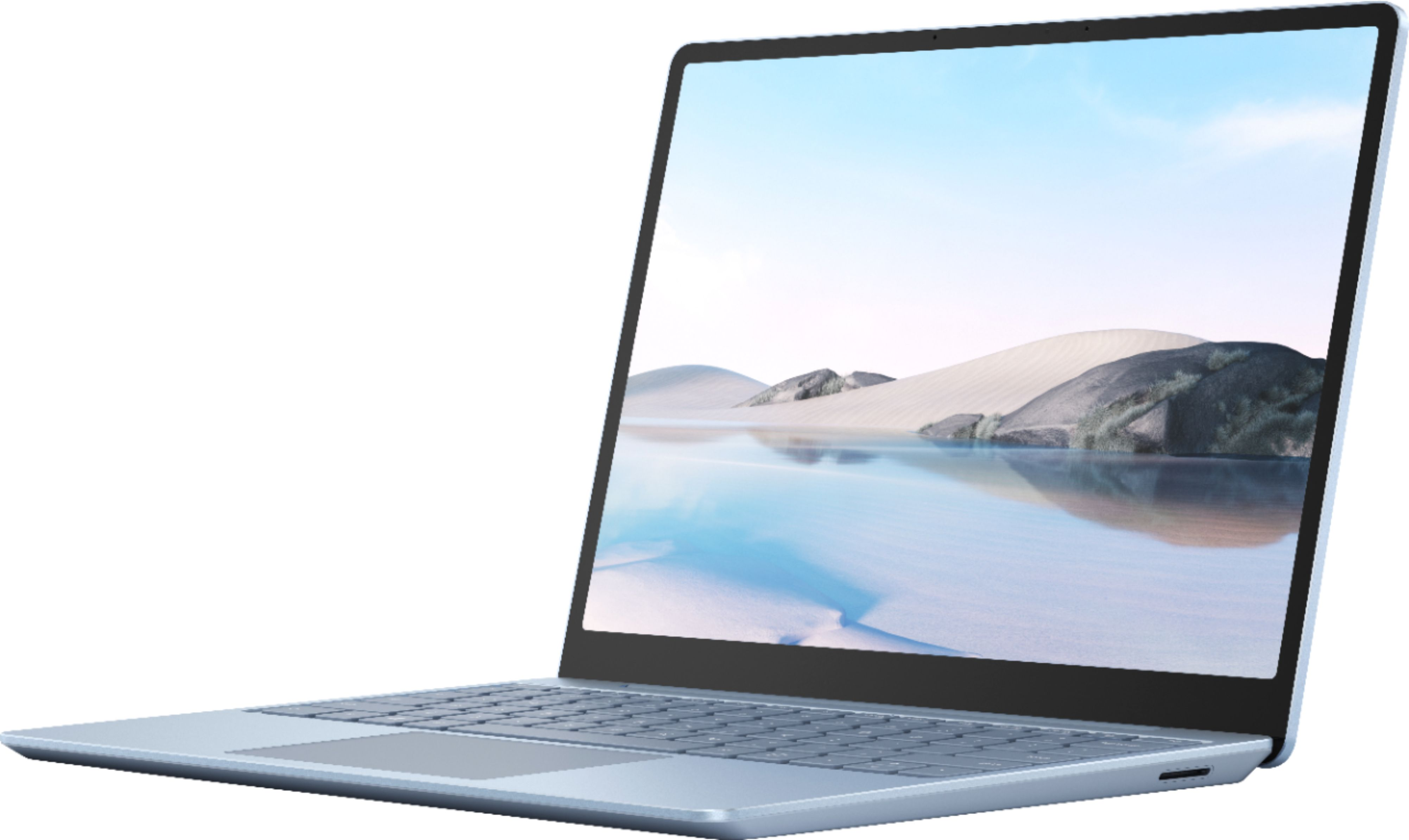 """Front Zoom. Microsoft - Surface Laptop Go - 12.4"""" Touch-Screen - Intel 10th Generation Core i5 - 8GB Memory - 128GB Solid State Drive - Ice Blue."""
