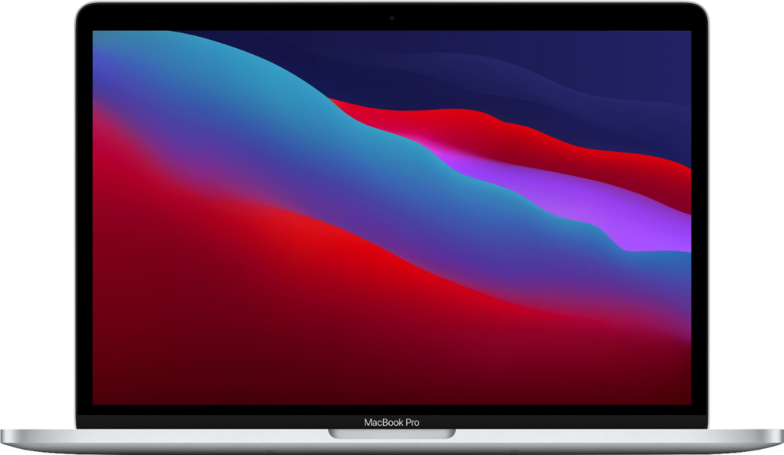 """Front Zoom. MacBook Pro 13.3"""" Laptop - Apple M1 chip - 8GB Memory - 256GB SSD (Latest Model) - Silver."""