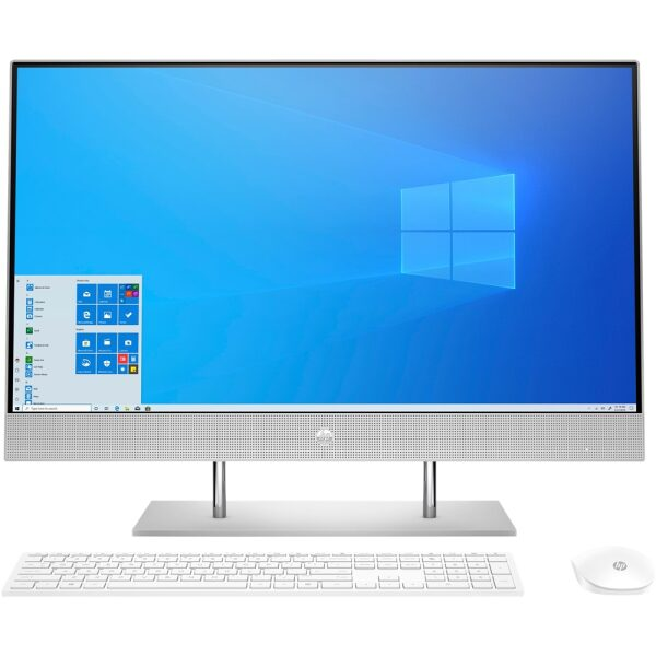 """Front Zoom. 27"""" Touch-Screen All-In-One - Intel Core i7 - 16GB Memory - 512GB SSD - HP Finish In Natural Silver."""