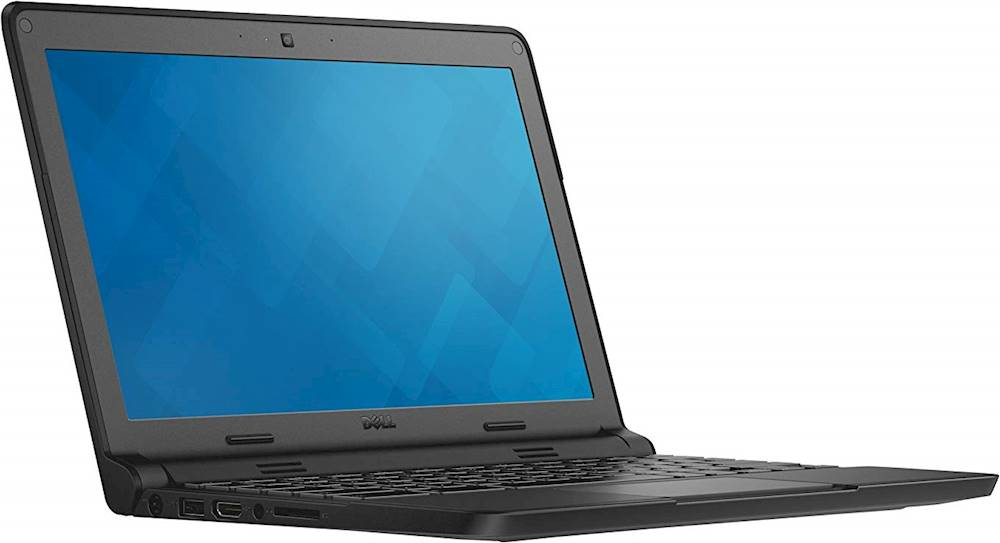 "Angle Zoom. Dell - 11.6"" Refurbished Chromebook - Intel Celeron - 4GB Memory - 16GB eMMC Flash Memory - Black."