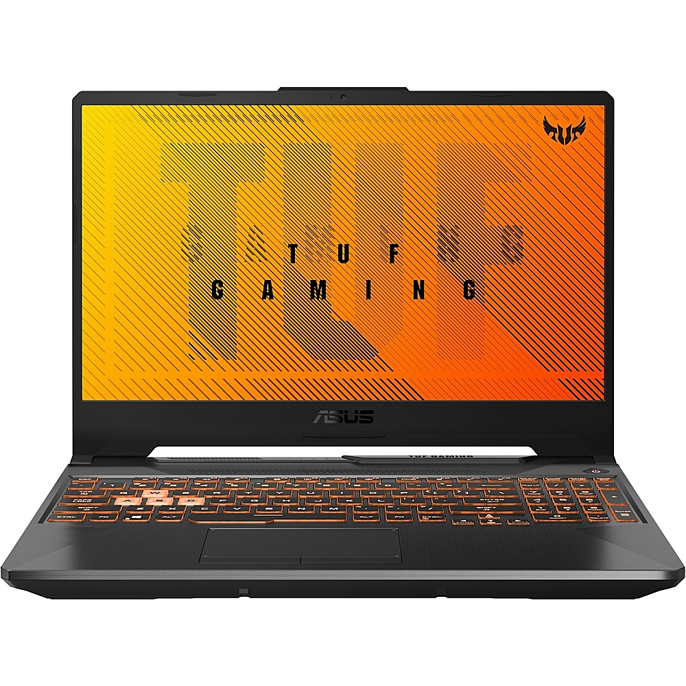 """Front Zoom. ASUS - 15.6"""" Laptop - AMD Ryzen 5 - 8GB Memory - NVIDIA GeForce GTX 1650 - 512GB SSD - Fortress Gray."""