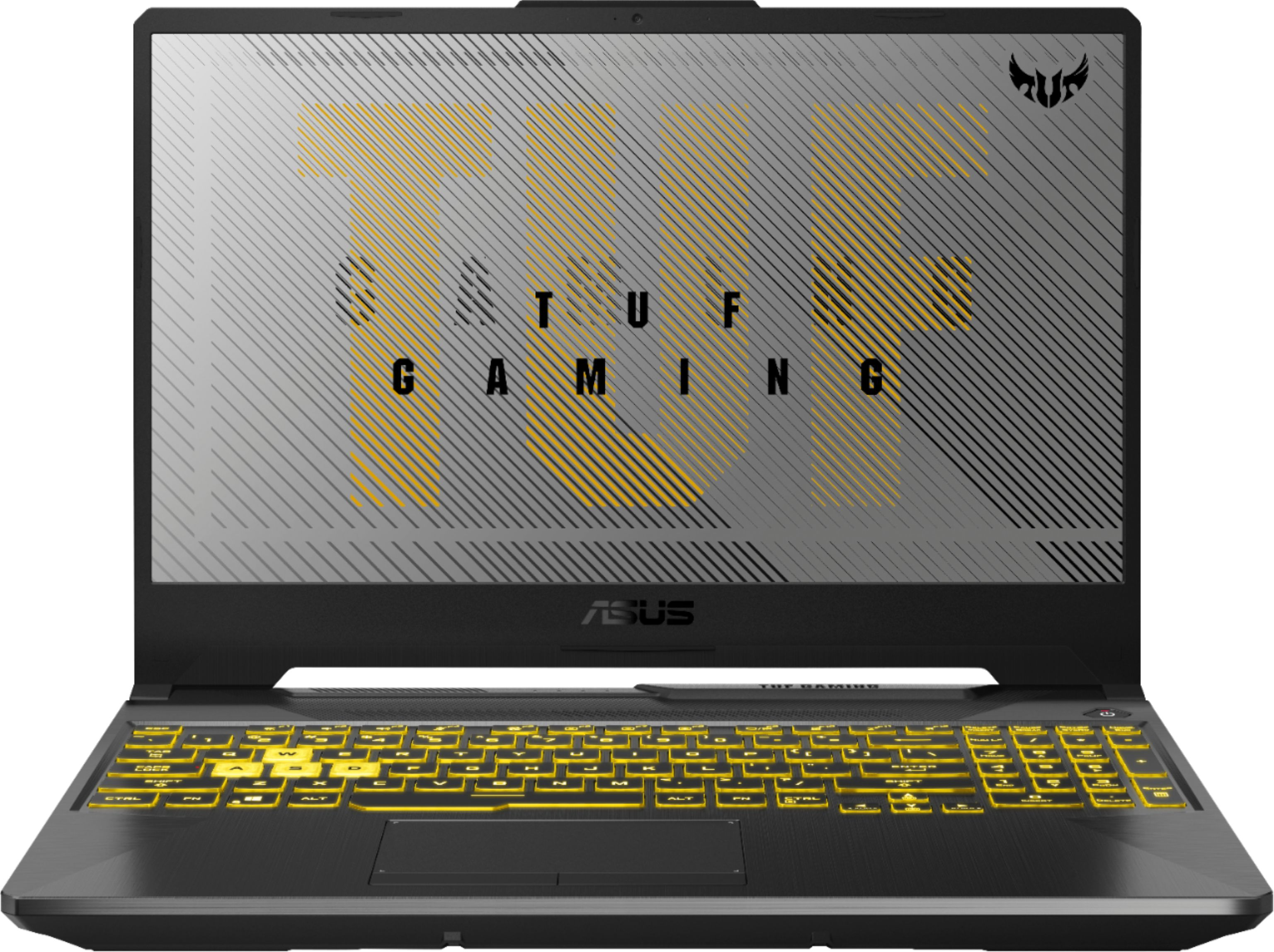 """Front Zoom. ASUS - 15.6"""" Laptop - AMD Ryzen 7 - 8GB Memory - NVIDIA GeForce RTX 2060 - 512GB SSD - Fortress Gray."""