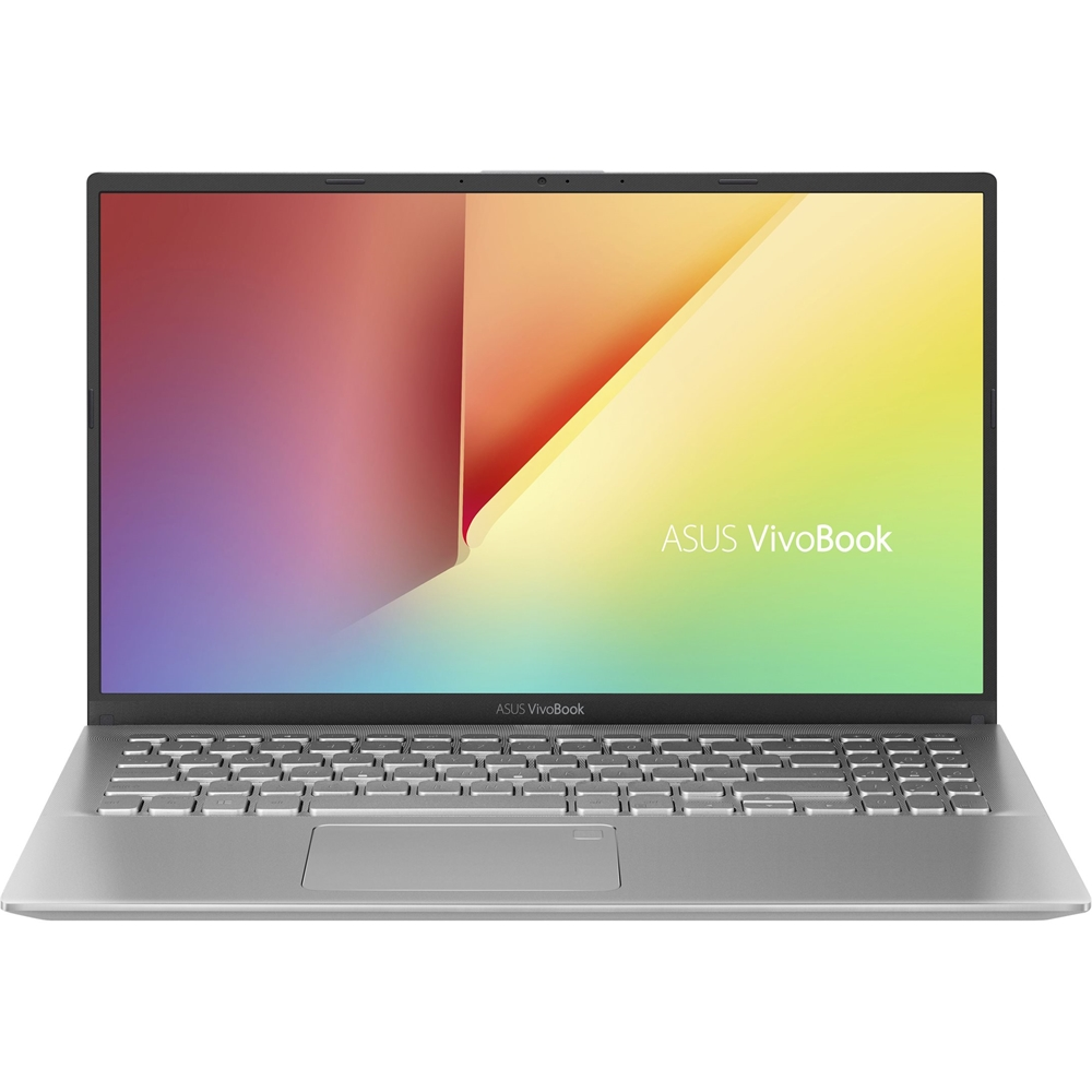 """Front Zoom. ASUS - 15.6"""" Laptop - Intel Core i7 - 8GB Memory - 1TB HDD + 256GB SSD - Silver Metal."""