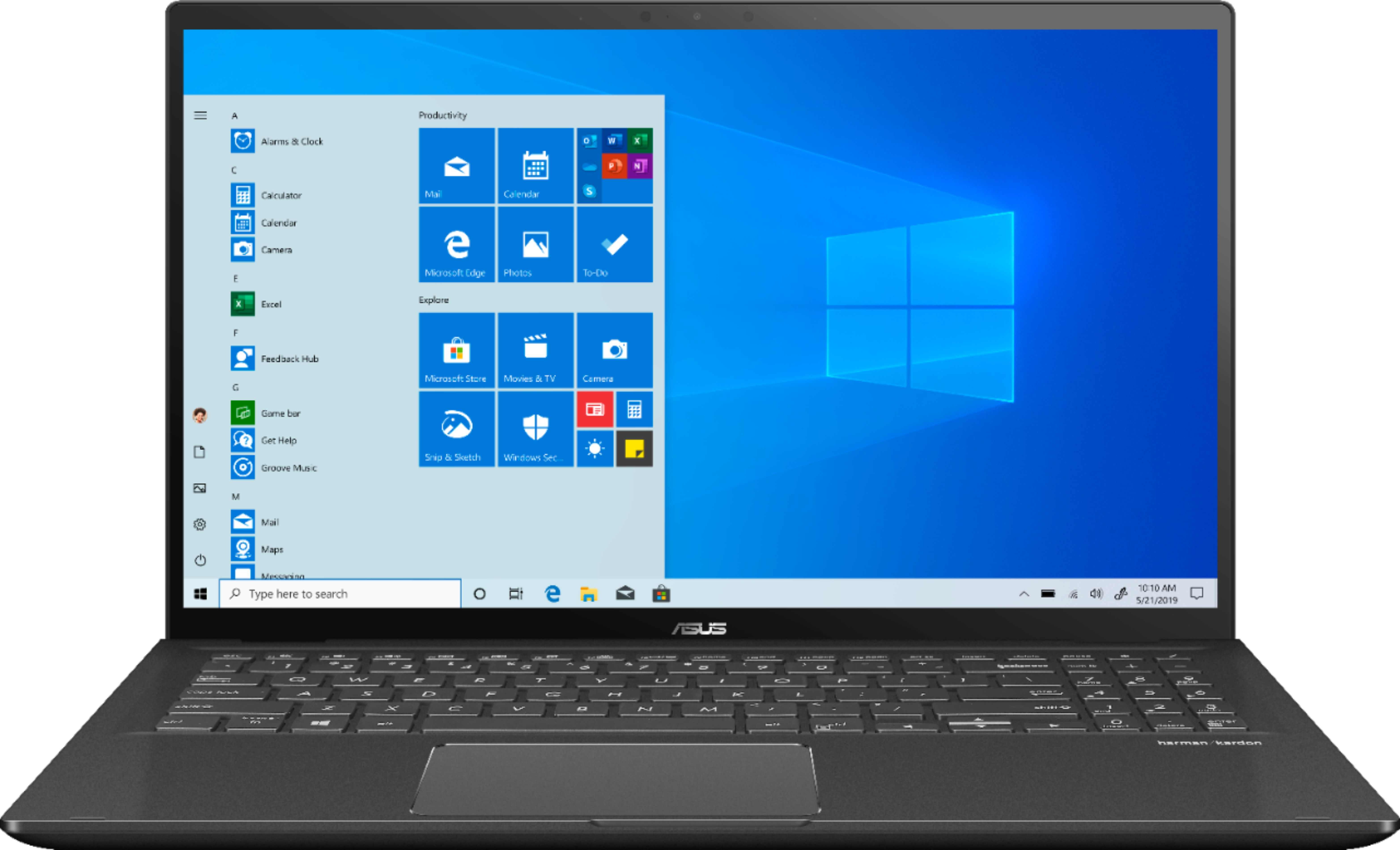 """Front Zoom. ASUS - 15.6"""" Touch-Screen Laptop - Intel Core i7 - 16GB Memory - 1TB Hard Drive + 128GB Solid State Drive - Gun Gray."""