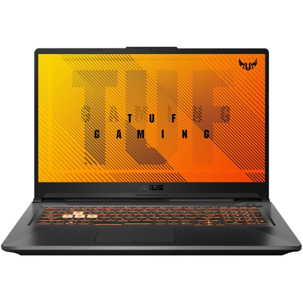 """Front Zoom. ASUS - 17.3"""" Laptop - AMD Ryzen 7 - 16GB Memory - NVIDIA GeForce GTX 1650 Ti - 1TB HDD + 512GB SSD - Fortress Gray."""