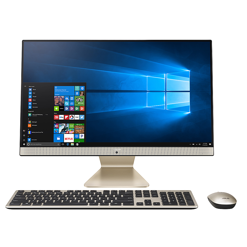 """Front Zoom. ASUS - 23.8"""" AIO Touch Screen Desktop - 8GB Memory - Ryzen 5 3500U - 512 Solid State Drive."""