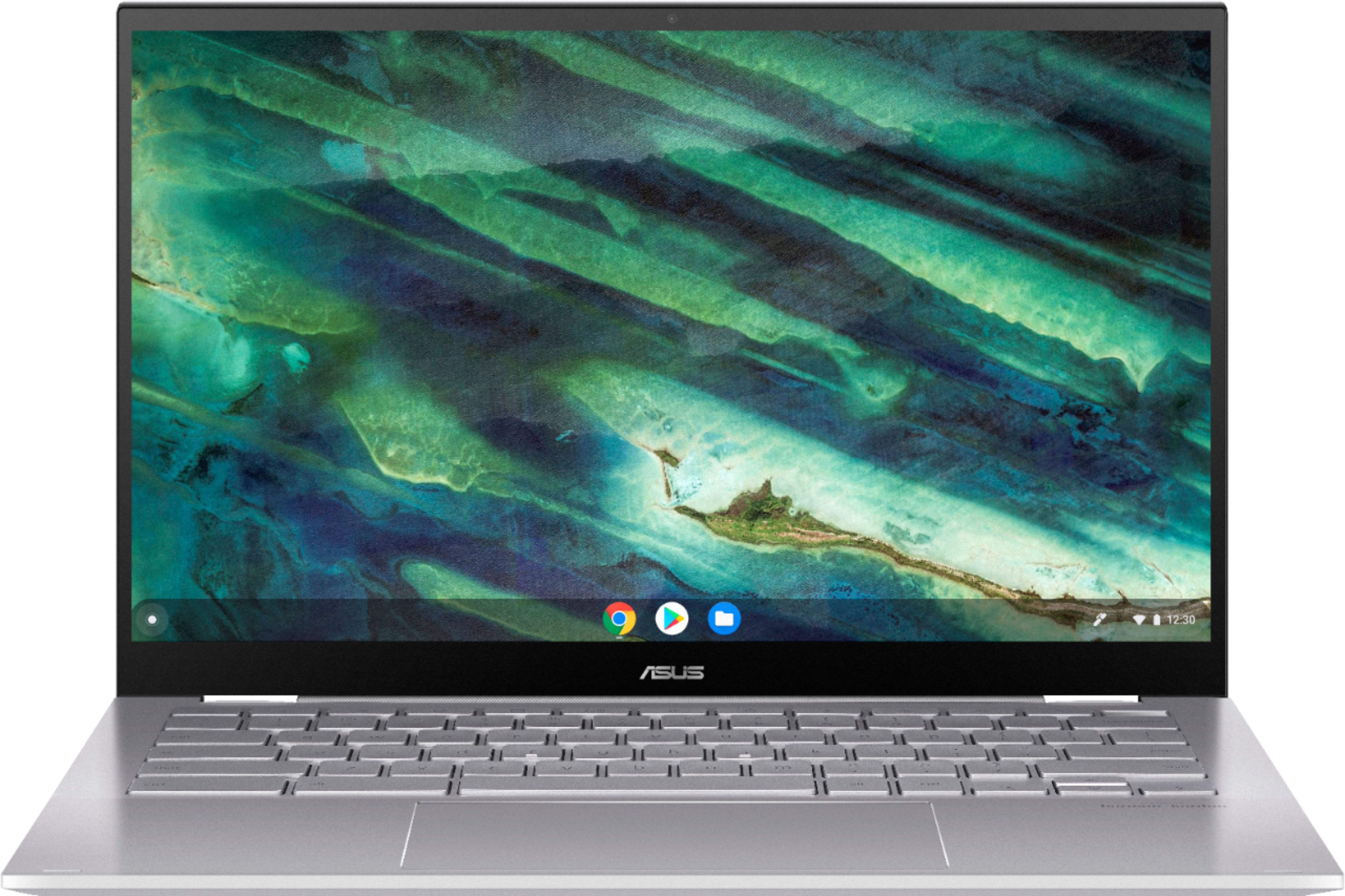 """Front Zoom. ASUS - Chromebook Flip C436 2-in-1 14"""" Touchscreen FHD Laptop - i5-10210U 16GB 512GB - Wi-Fi 6  Magnesium Alloy - White - White."""