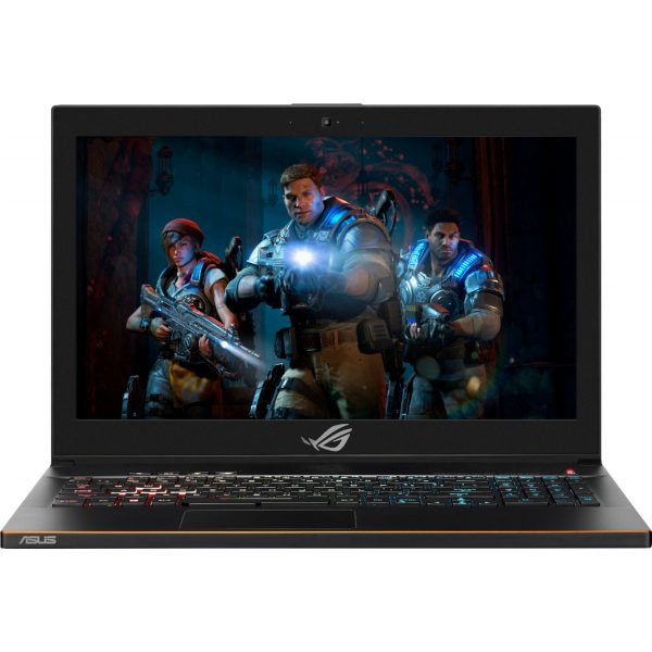 "Front Zoom. ASUS - Geek Squad Certified Refurbished 15.6"" Gaming Laptop - Core i7 - 16GB - GeForce GTX 1060 - 1TB Hybrid Drive + 128GB SSD - Brushed Black."