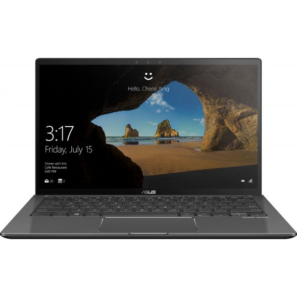 """Front Zoom. ASUS - Geek Squad Certified Refurbished 2-in-1 13.3"""" Touch-Screen Laptop - Intel Core i7 - 16GB Memory - 256GB SSD - Gun Metal Gray."""