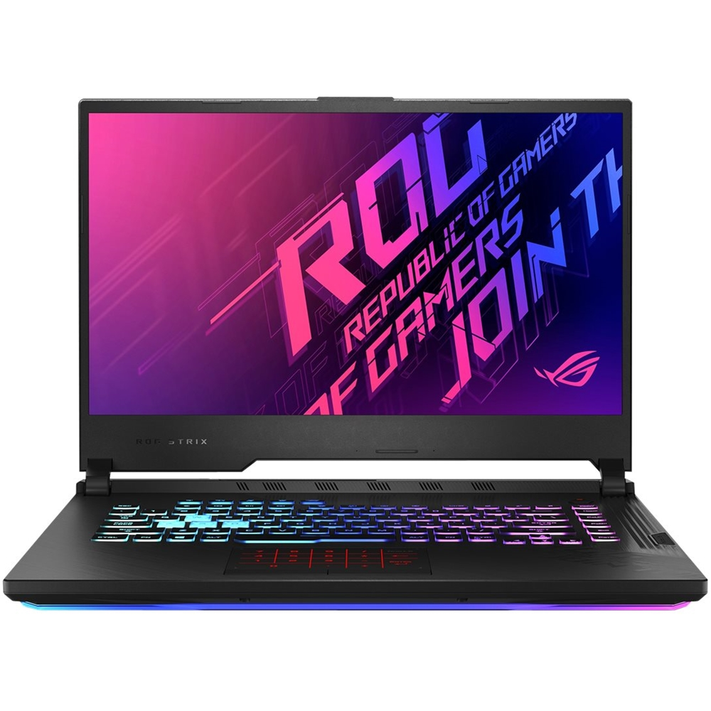 "Front Zoom. ASUS - ROG Strix G17 17.3"" Laptop - Intel Core i7 - 16GB Memory - NVIDIA GeForce RTX 2070 - 512GB SSD - Original Black."