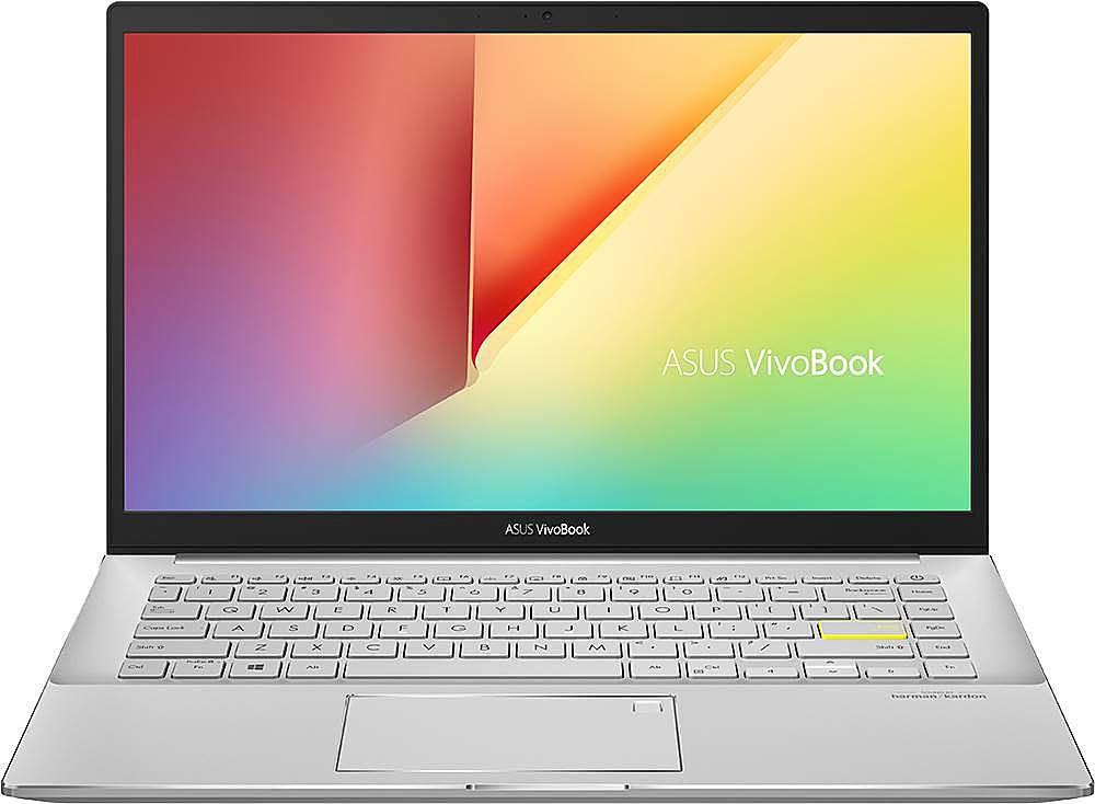"""Front Zoom. ASUS - VivoBook S14 14"""" Laptop - Intel Core i5 - 8GB Memory - 512GB Solid State Drive - Dreamy White/Transparent Silver."""