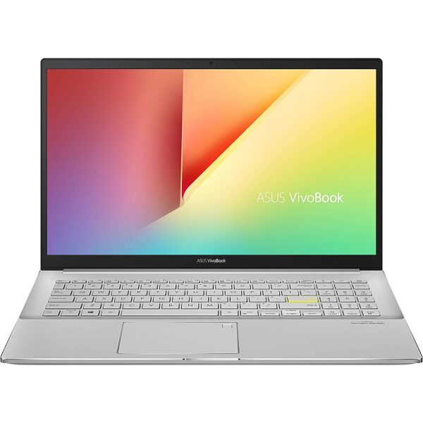 """Front Zoom. ASUS - VivoBook S15 15.6"""" Laptop - Intel Core i5 - 8GB Memory - 512GB SSD - Dreamy White/Transparent Silver."""
