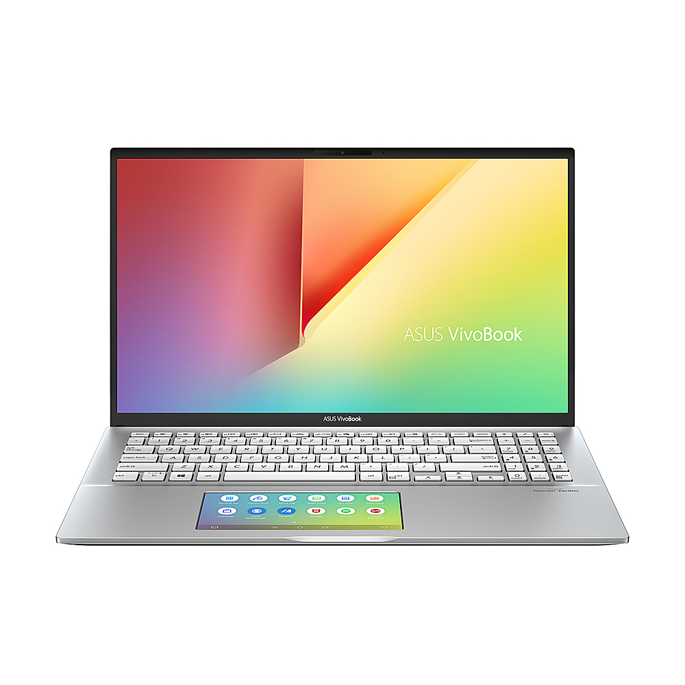 """Front Zoom. ASUS - VivoBook Thin & Light 15.6"""" Laptop - i7-10510U - 16GB Memory - NVIDIA GeForce MX250 - 1TB Solid State Drive - Transparent Silver."""