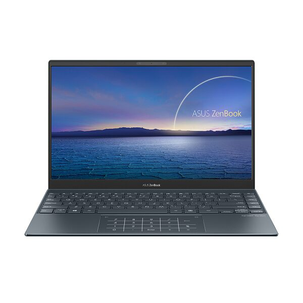 "Front Zoom. ASUS - ZenBook - 13"" Ultra-Slim FHD Laptop - Intel Core i5-1035G1 - 8GB 256GB in Pine Grey - Pine Grey."