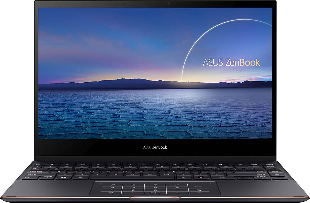 "Front Zoom. ASUS - ZenBook Flip S 2-in-1 13.3"" 4K Ultra HD Touch-Screen Laptop - Intel Core i7 - 16GB Memory - 1TB Solid State Drive - Jade Black."