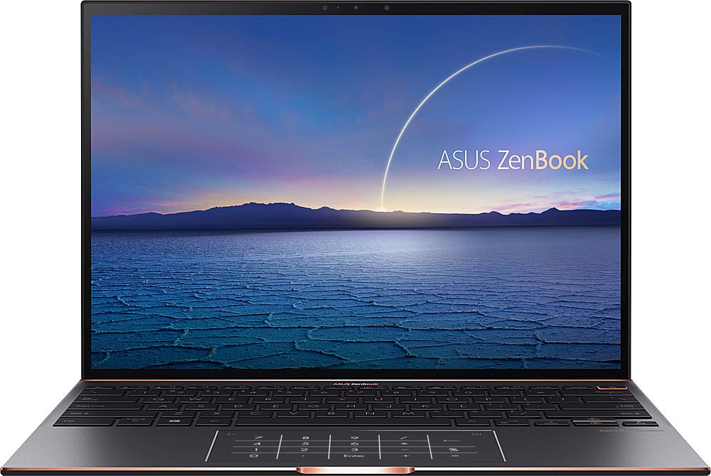 """Front Zoom. ASUS - ZenBook S 13.9"""" Touch-Screen Laptop - Intel Core i7 - 16GB Memory - 1TB Solid State Drive - Jade Black."""