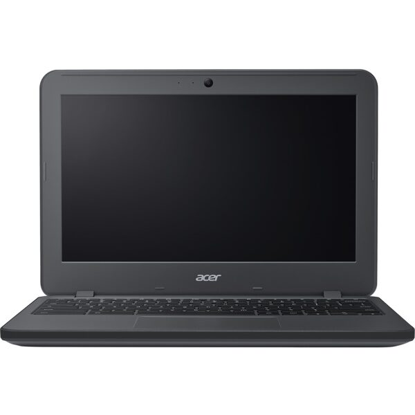 """Front Zoom. Acer - 11.6"""" Touch-Screen Chromebook - Intel Celeron - 4GB Memory - 16GB eMMC Flash Memory - Gray."""