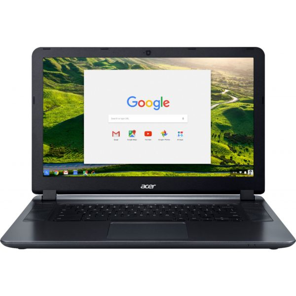 "Front Zoom. Acer - 15.6"" Chromebook - Intel Atom x5 - 4GB Memory - 16GB eMMC Flash Memory - Granite Gray."