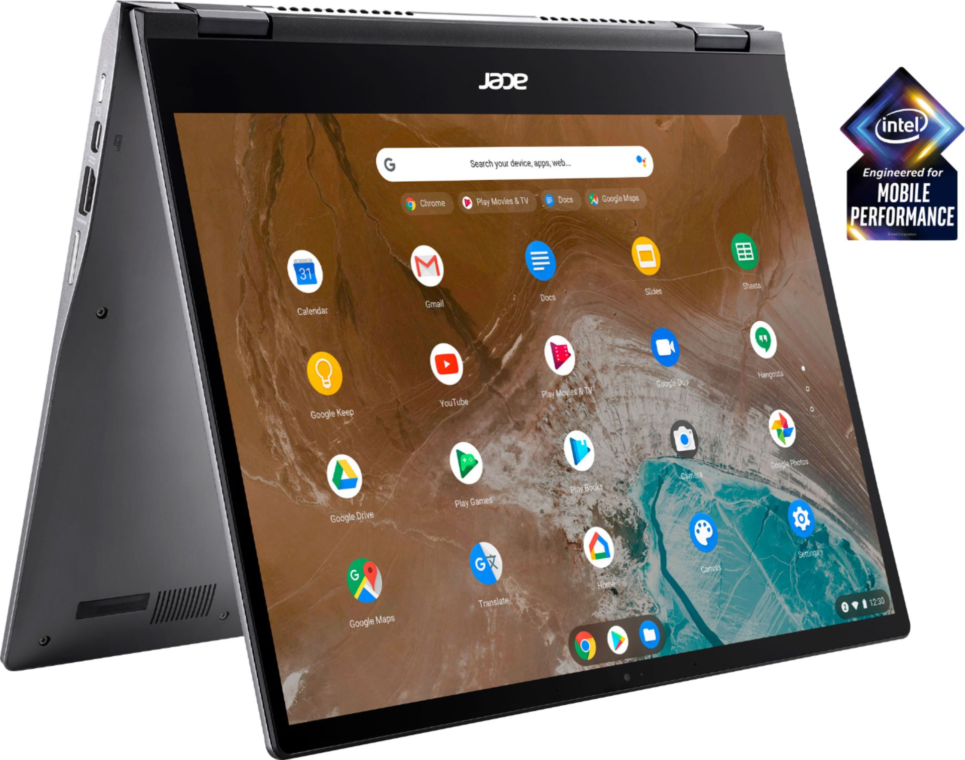 """Front Zoom. Acer - Chromebook Spin 713 2-in-1 13.5"""" 2K VertiView 3:2 Touch - Intel i5-10210U - 8GB Memory - 128GB SSD – Steel Gray."""