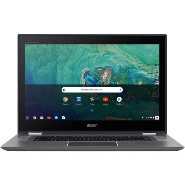 """Acer - Geek Squad Certified Refurbished Spin 15 2-in-1 15.6"""" Touch-Screen Chromebook - Intel Pentium - 4GB Memory - 64GB SSD - Sparkly Silver"""