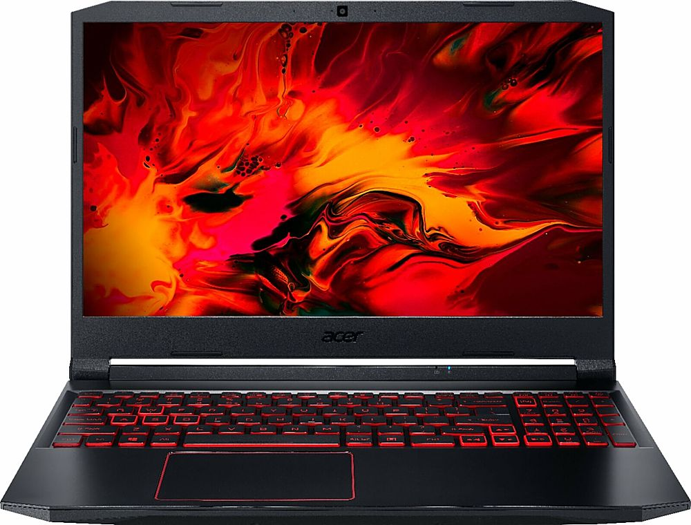 """Front Zoom. Acer - Refurbished 15.6"""" Laptop - AMD Ryzen 5 4600H - 8GB Memory 256GB Solid State Drive - Black."""