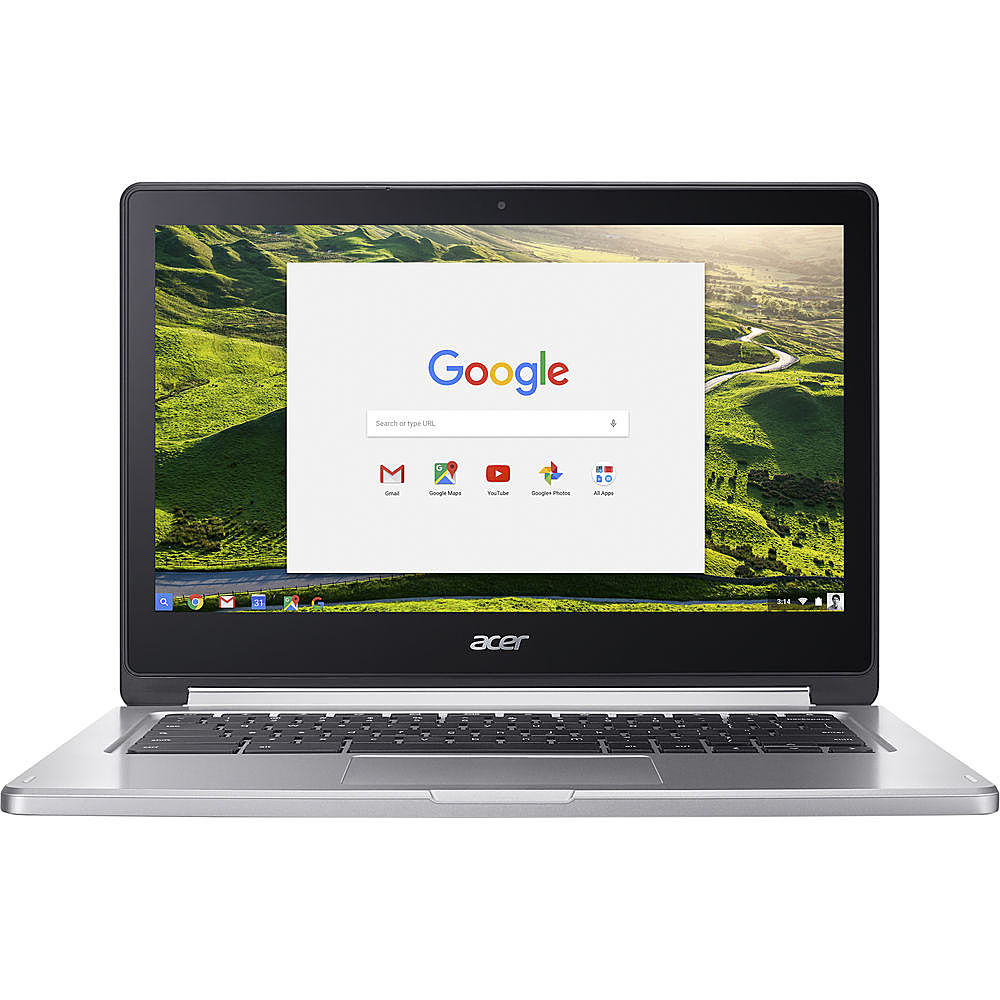 Front Zoom. Acer - Refurbished Chromebook R 13 - MediaTek M8173C - 4GB Memory - 64GB Flash - White.