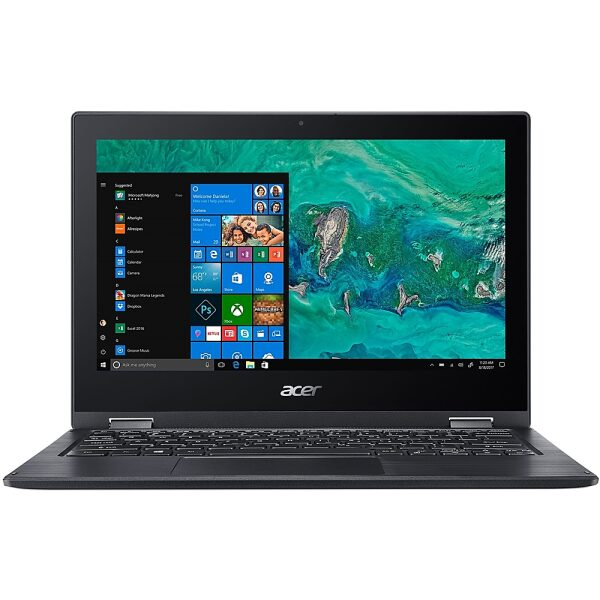 """Front Zoom. Acer - Spin 1 2-in-1 11.6"""" Refurbished Touch-Screen Laptop - Intel Pentium Silver - 4GB Memory - 64GB eMMC Flash Memory - Obsidian Black."""