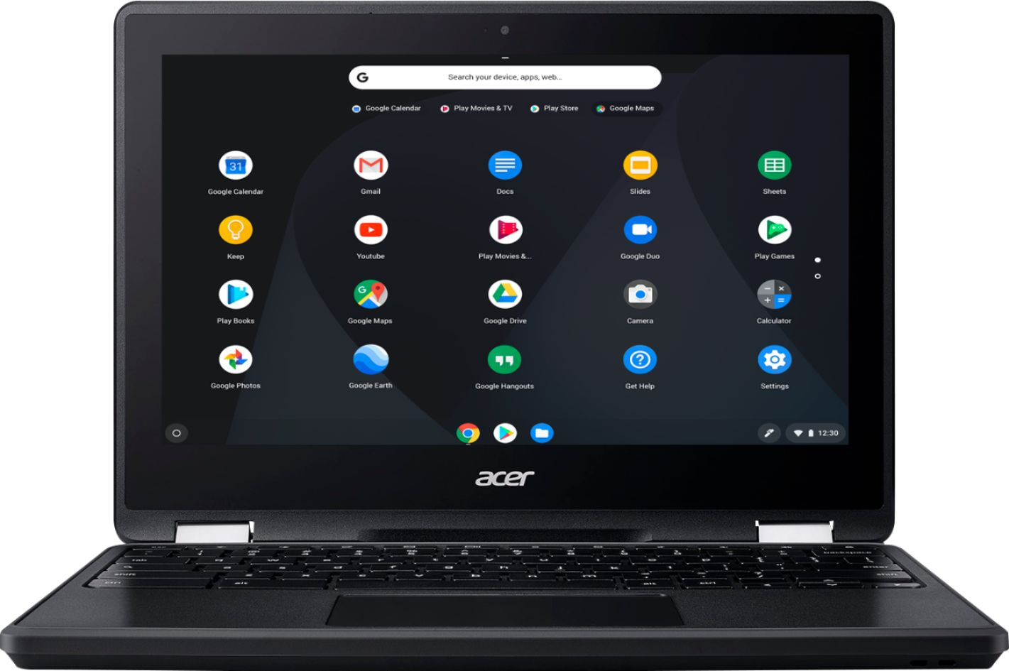 """Front Zoom. Acer - Spin 11 2-in-1 11.6"""" Touch-Screen Chromebook - Intel Celeron - 4GB Memory - 32GB eMMC Flash Memory - Obsidian Black."""