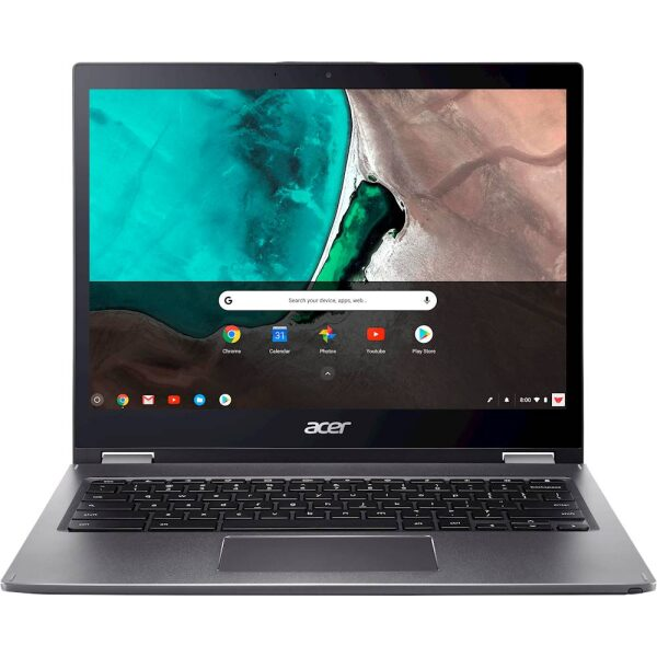 "Front Zoom. Acer - Spin 13 2-in-1 13.5"" Touch-Screen Chromebook - Intel Core i5 - 8GB Memory - 64GB eMMC Flash Memory - Steel Gray."